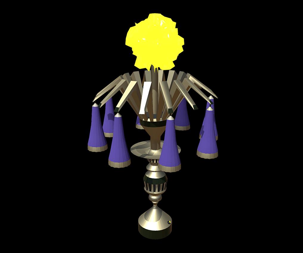 Magic Lamp of Ancient Hyperborea - Fire Flower 3d model fbx 271161