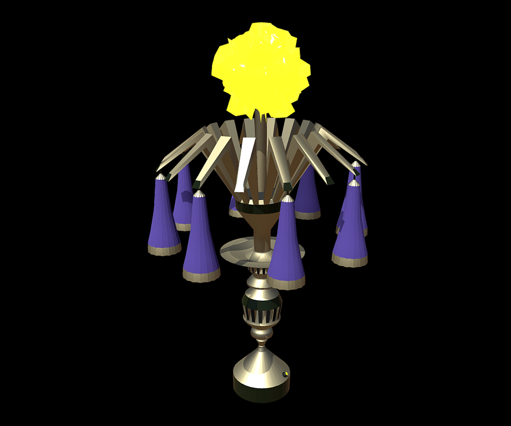 magic lamp of ancient hyperborea – fire flower 3d model fbx 271162