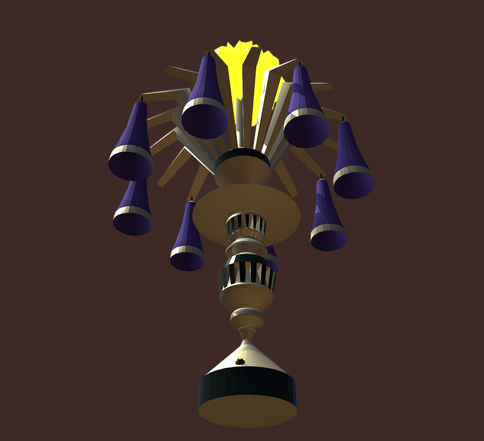 magic lamp of ancient hyperborea – fire flower 3d model fbx 271165