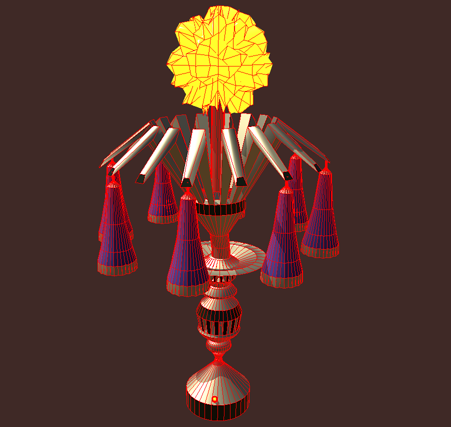 magic lamp of ancient hyperborea – fire flower 3d model fbx 271166