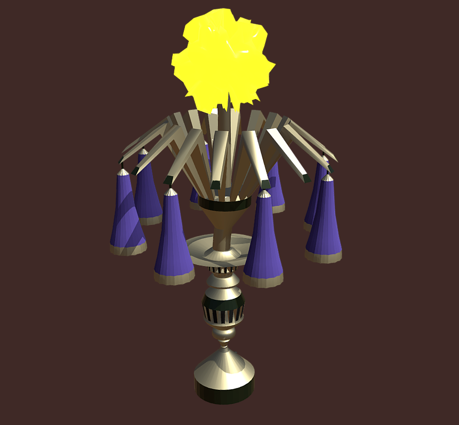 magic lamp of ancient hyperborea – fire flower 3d model fbx 271170