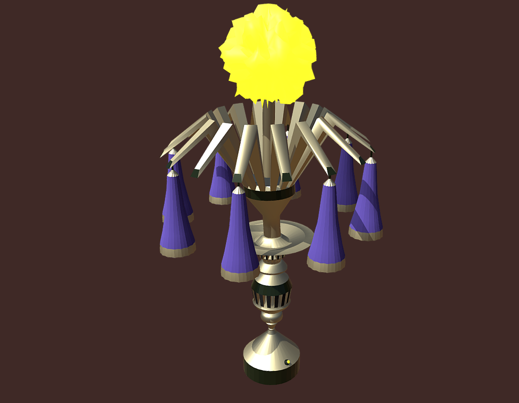 magic lamp of ancient hyperborea – fire flower 3d model fbx 271172