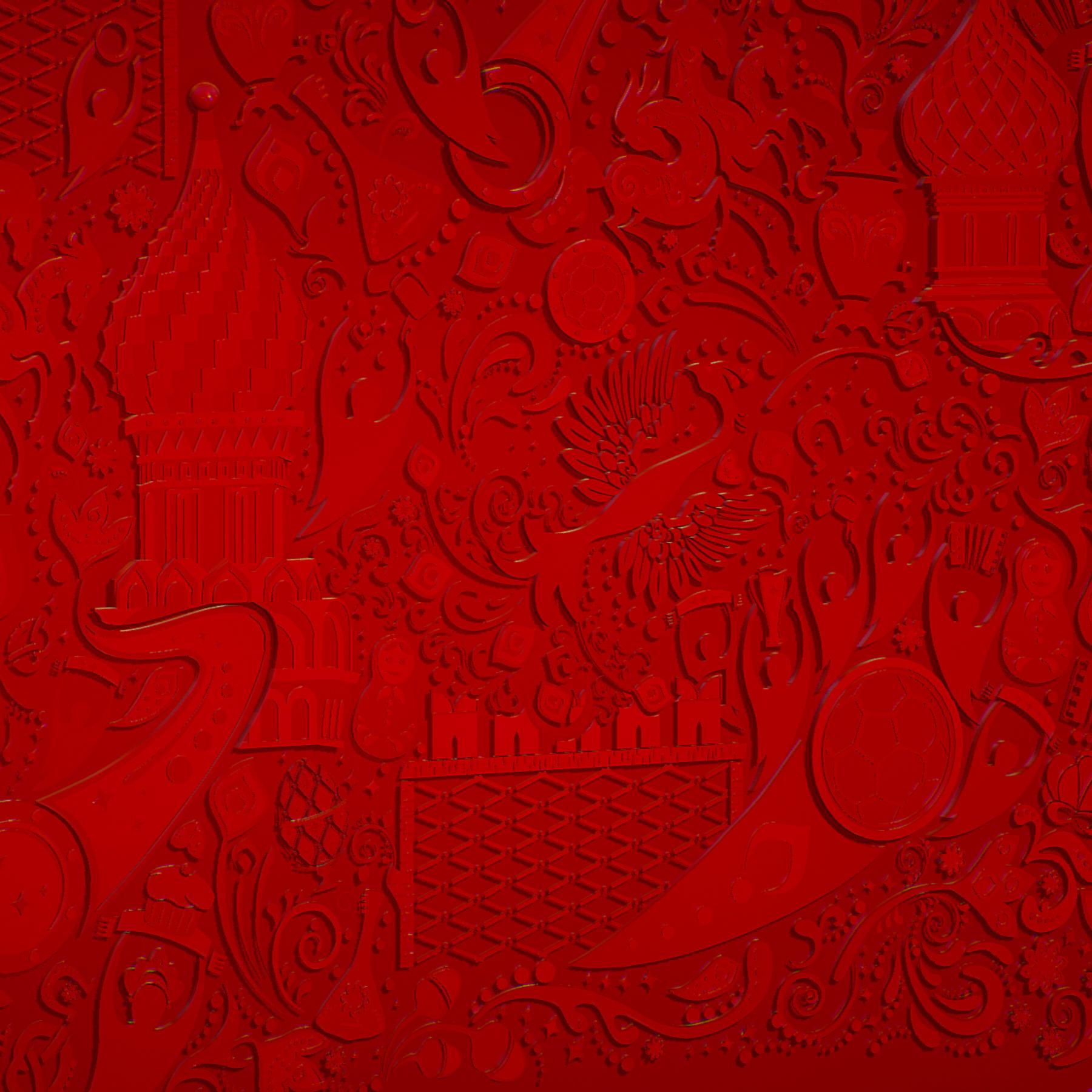 russian geometric tile ornament decoration red 3d model max fbx jpeg jpg ma mb obj 271191