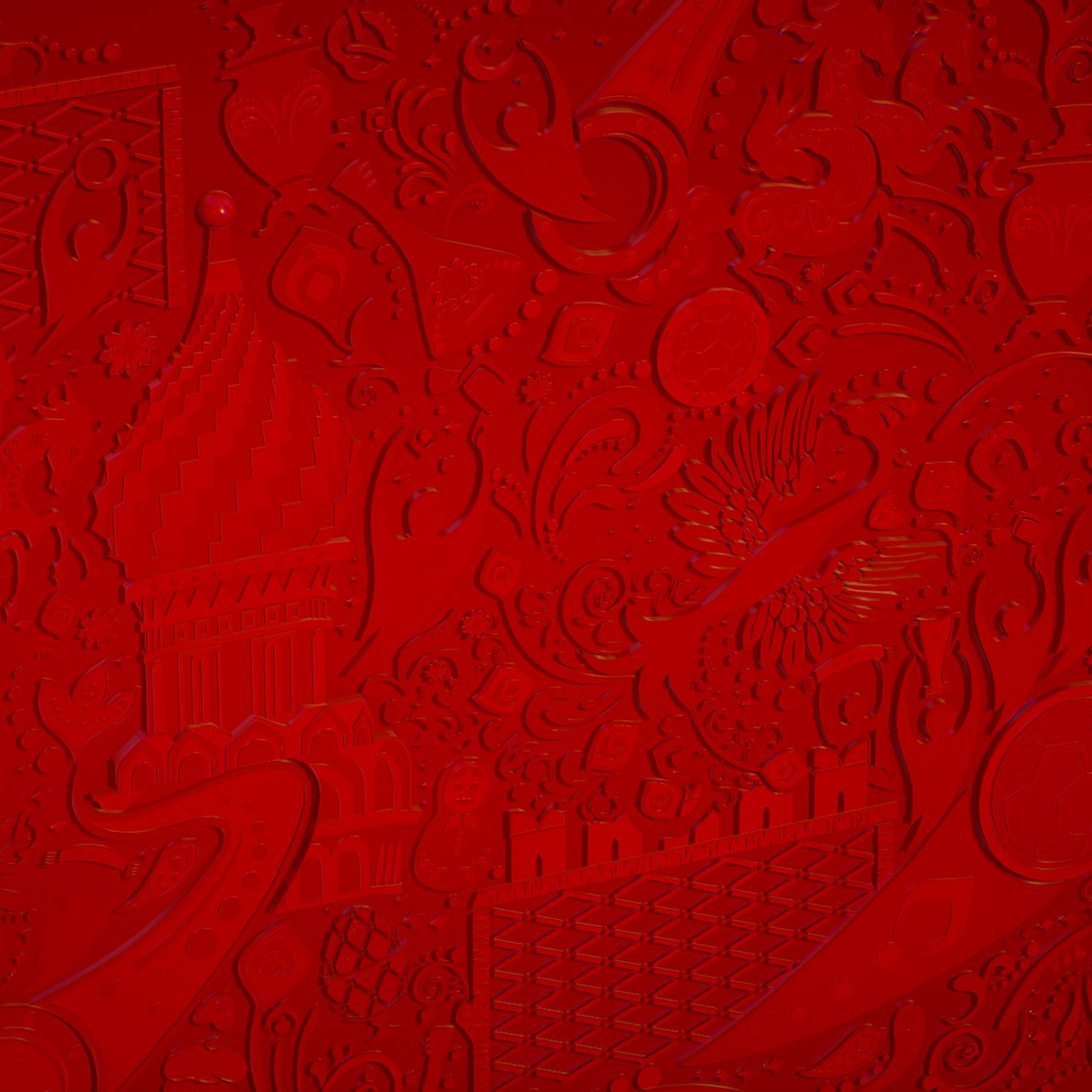 russian geometric tile ornament decoration red 3d model max fbx jpeg jpg ma mb obj 271197