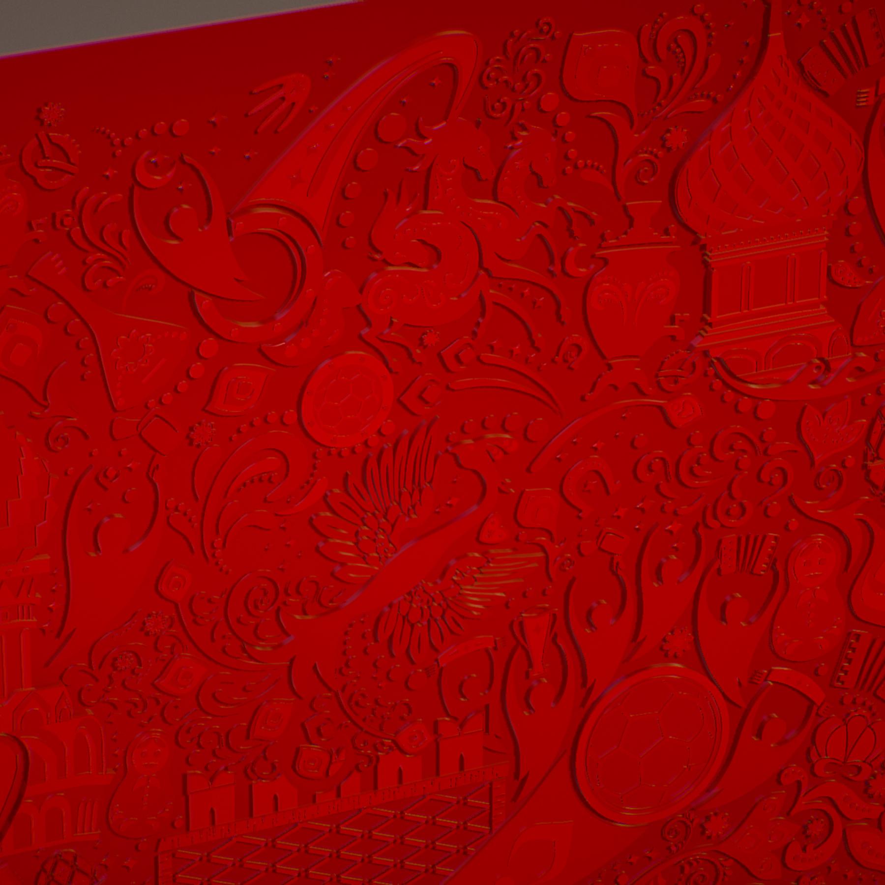 russian geometric tile ornament decoration red 3d model max fbx jpeg jpg ma mb obj 271198