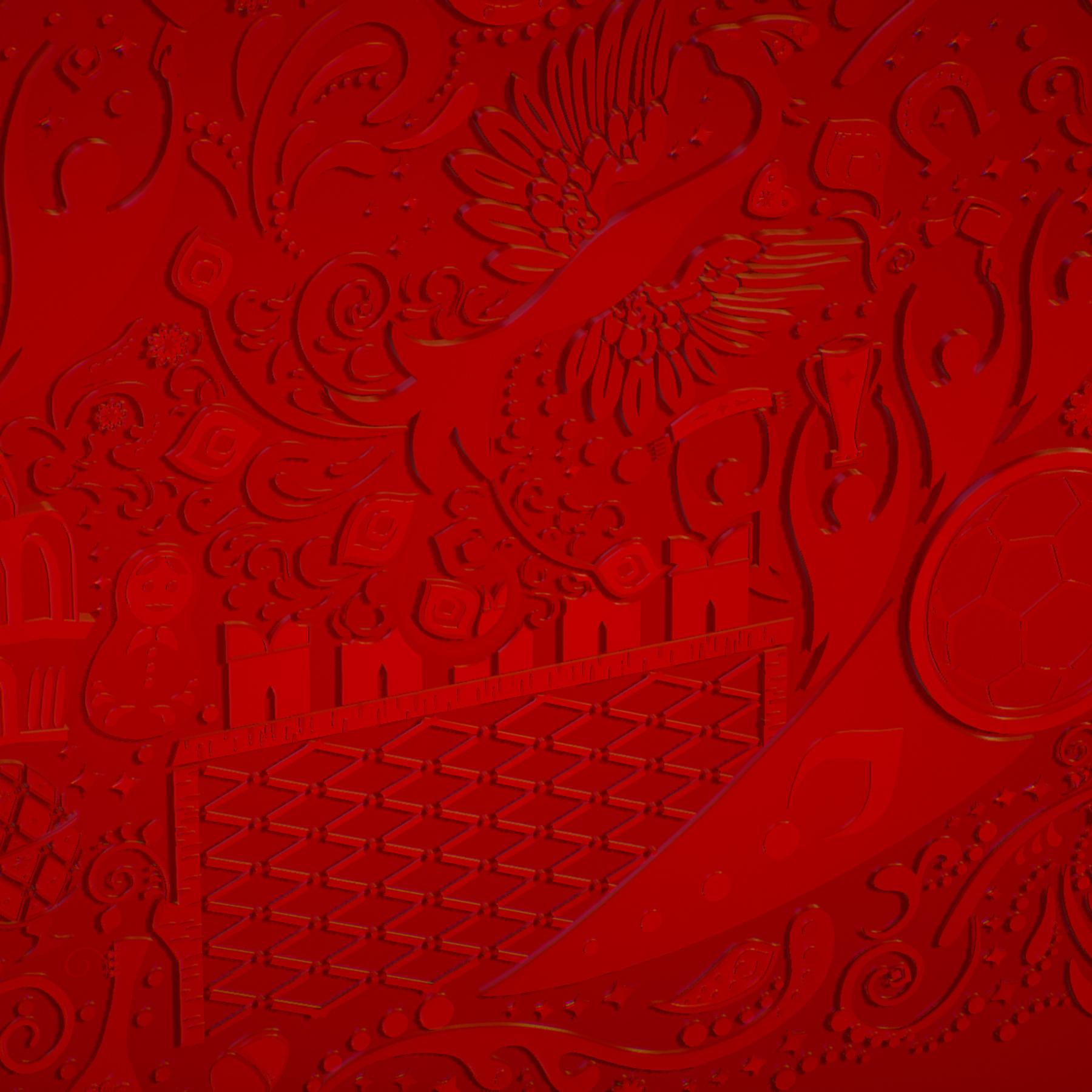 russian geometric tile ornament decoration red 3d model max fbx jpeg jpg ma mb obj 271200