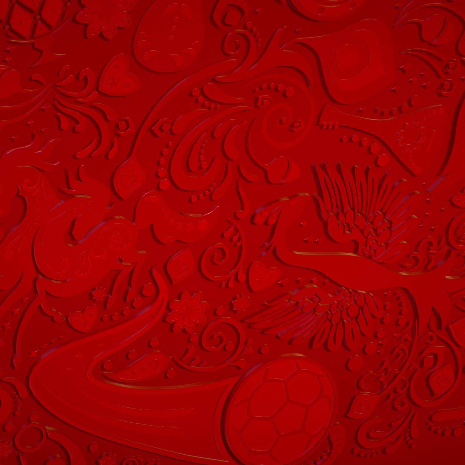 russian geometric tile ornament decoration red 3d model max fbx jpeg jpg ma mb obj 271205
