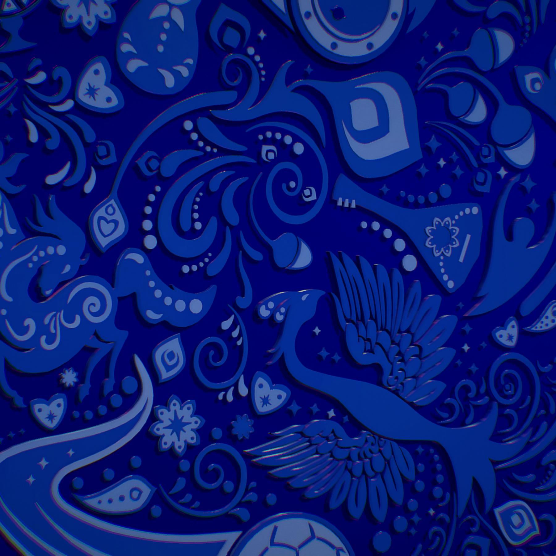 russian geometric tile ornament decoration blue 3d model max fbx jpeg jpg ma mb obj 271242