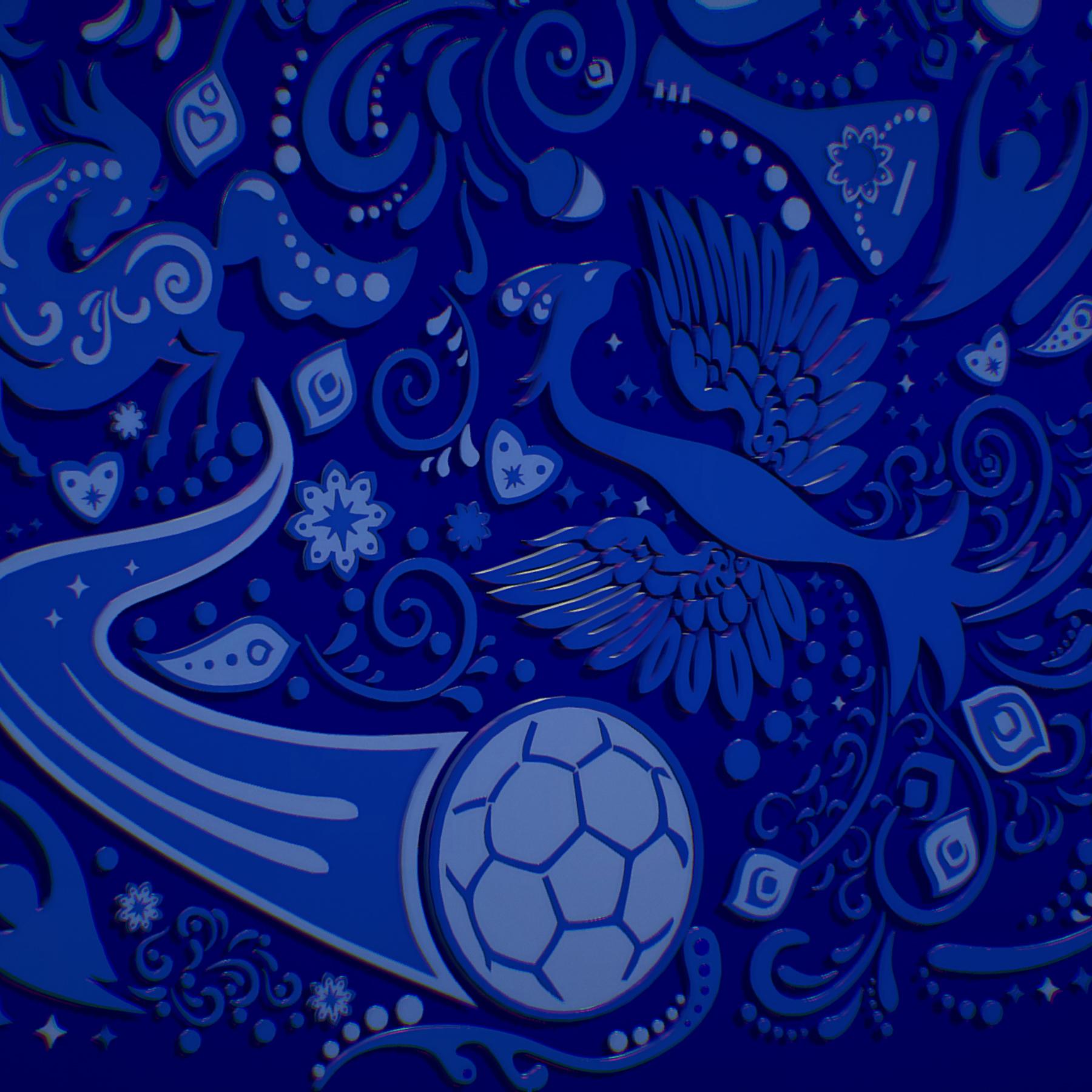 russian geometric tile ornament decoration blue 3d model max fbx jpeg jpg ma mb obj 271243