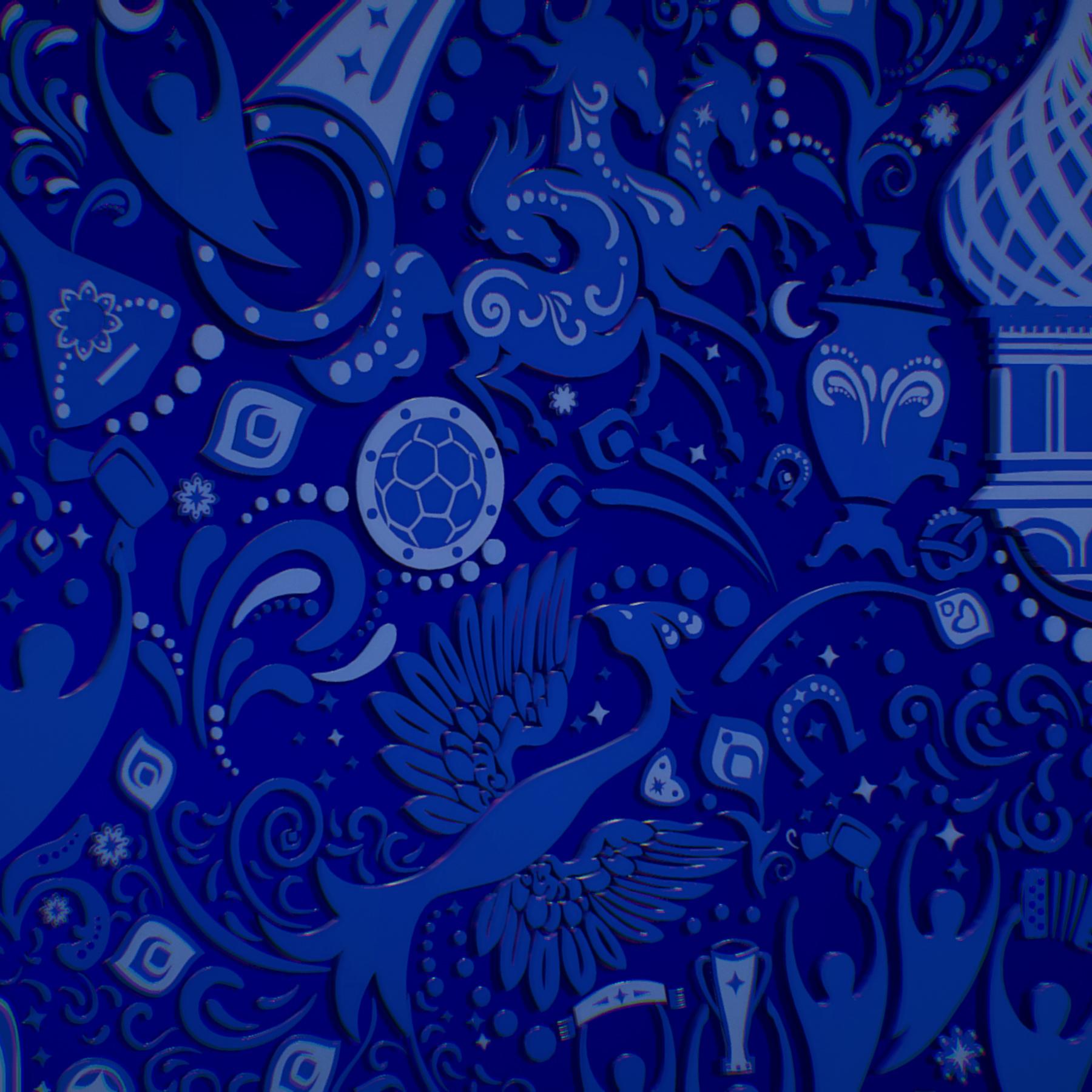 russian geometric tile ornament decoration blue 3d model max fbx jpeg jpg ma mb obj 271246