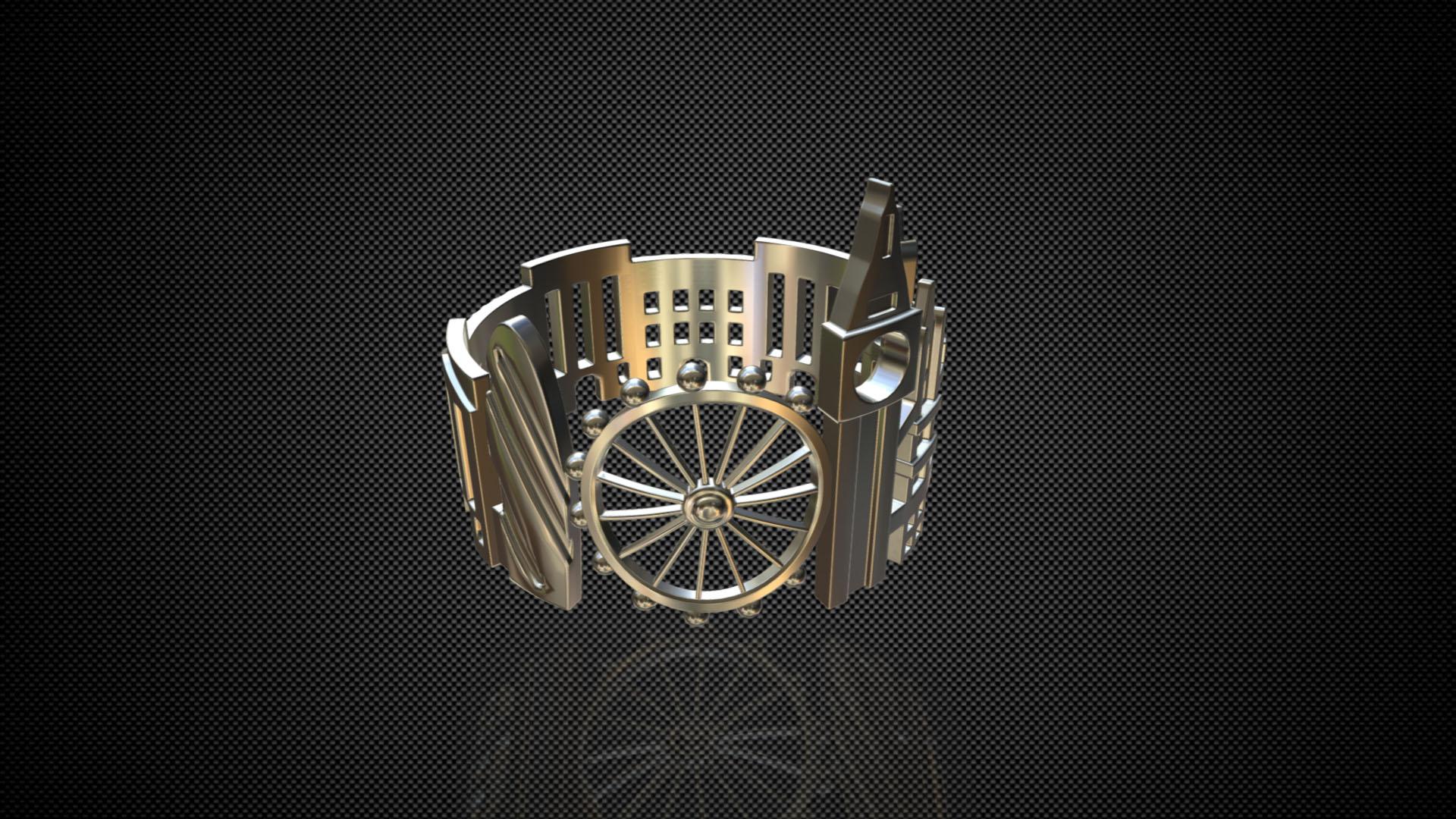 cityscape design ring london 3d model 3ds fbx c4d lwo ma mb 3dm hrc xsi  obj 271342