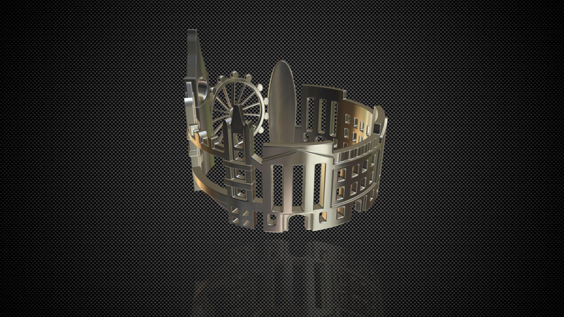 cityscape design ring london 3d model 3ds fbx c4d lwo ma mb 3dm hrc xsi  obj 271345