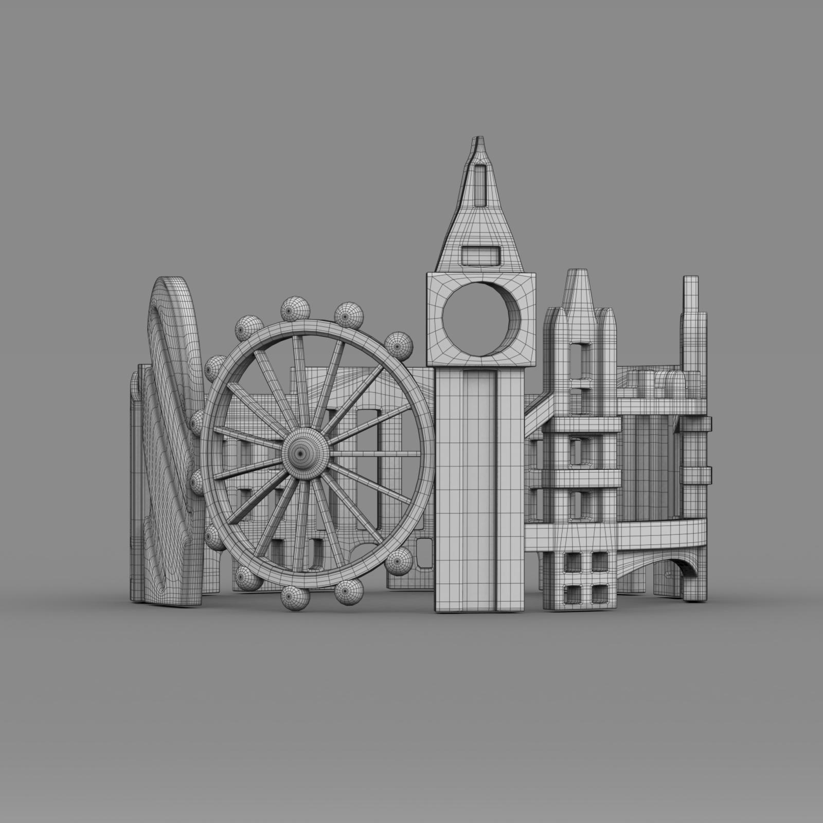 cityscape design ring london 3d model 3ds fbx c4d lwo ma mb 3dm hrc xsi  obj 271347
