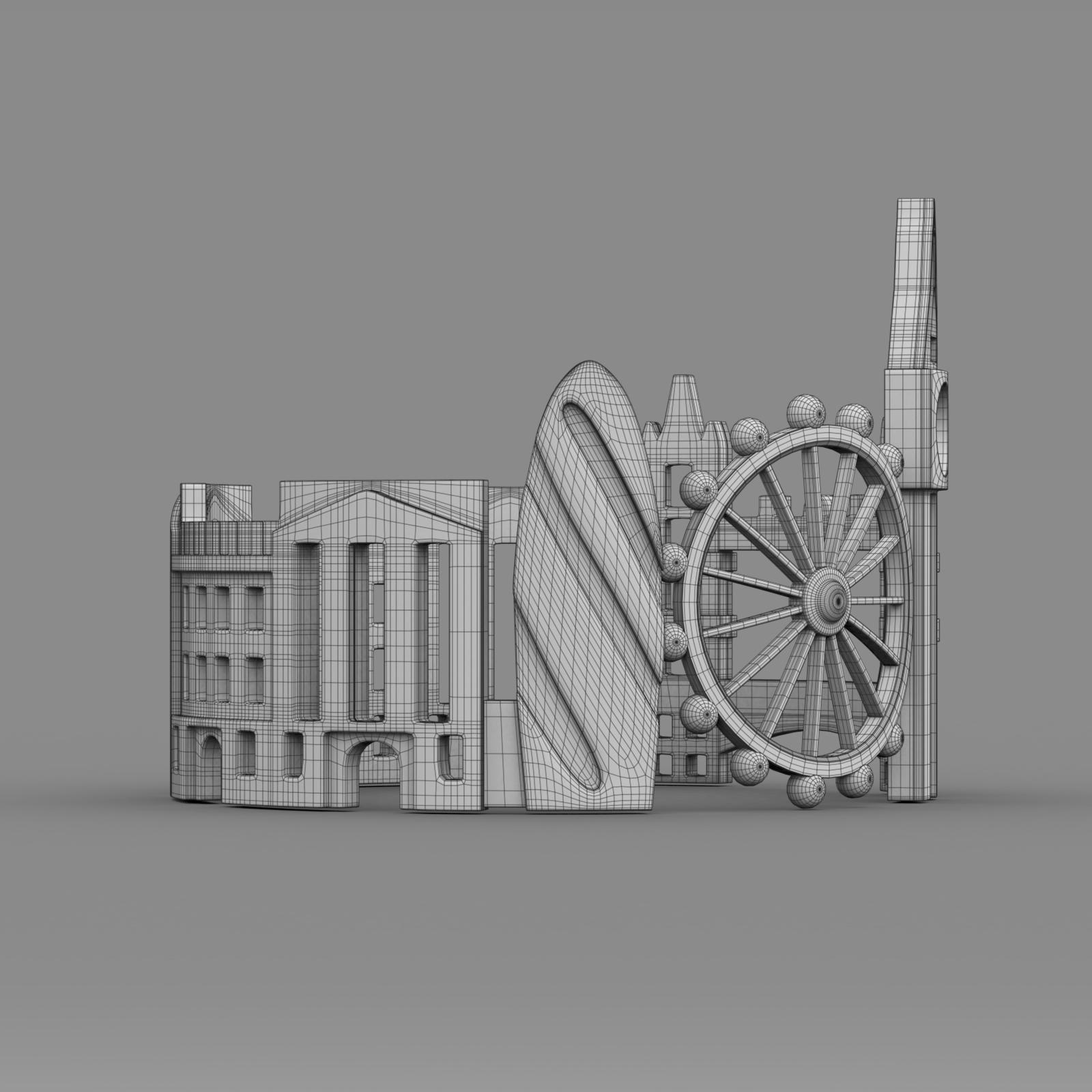 cityscape design ring london 3d model 3ds fbx c4d lwo ma mb 3dm hrc xsi  obj 271350