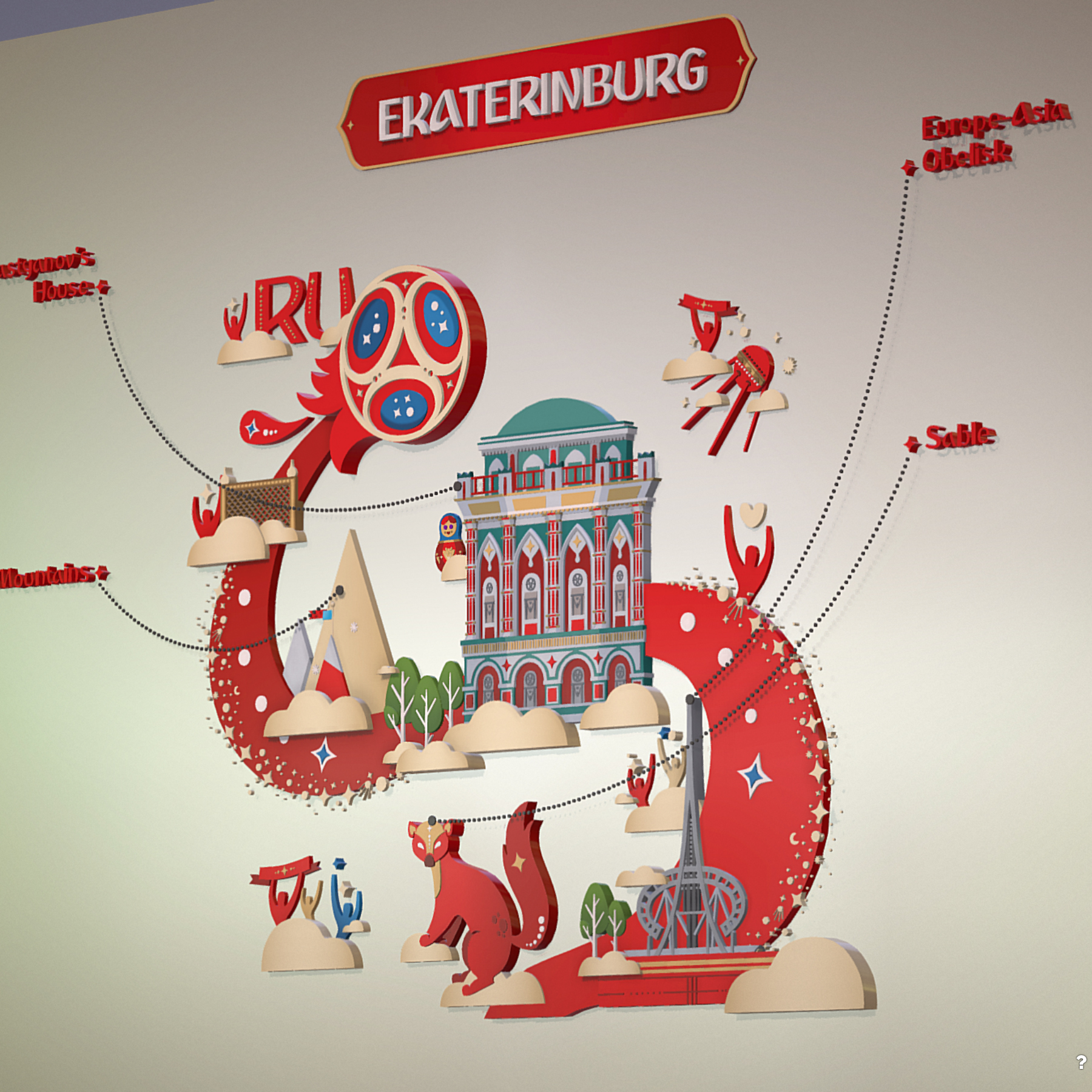 fifa wold cup 2018 russia host city ekaterinburg 3d model max  fbx jpeg jpg ma mb obj 271361