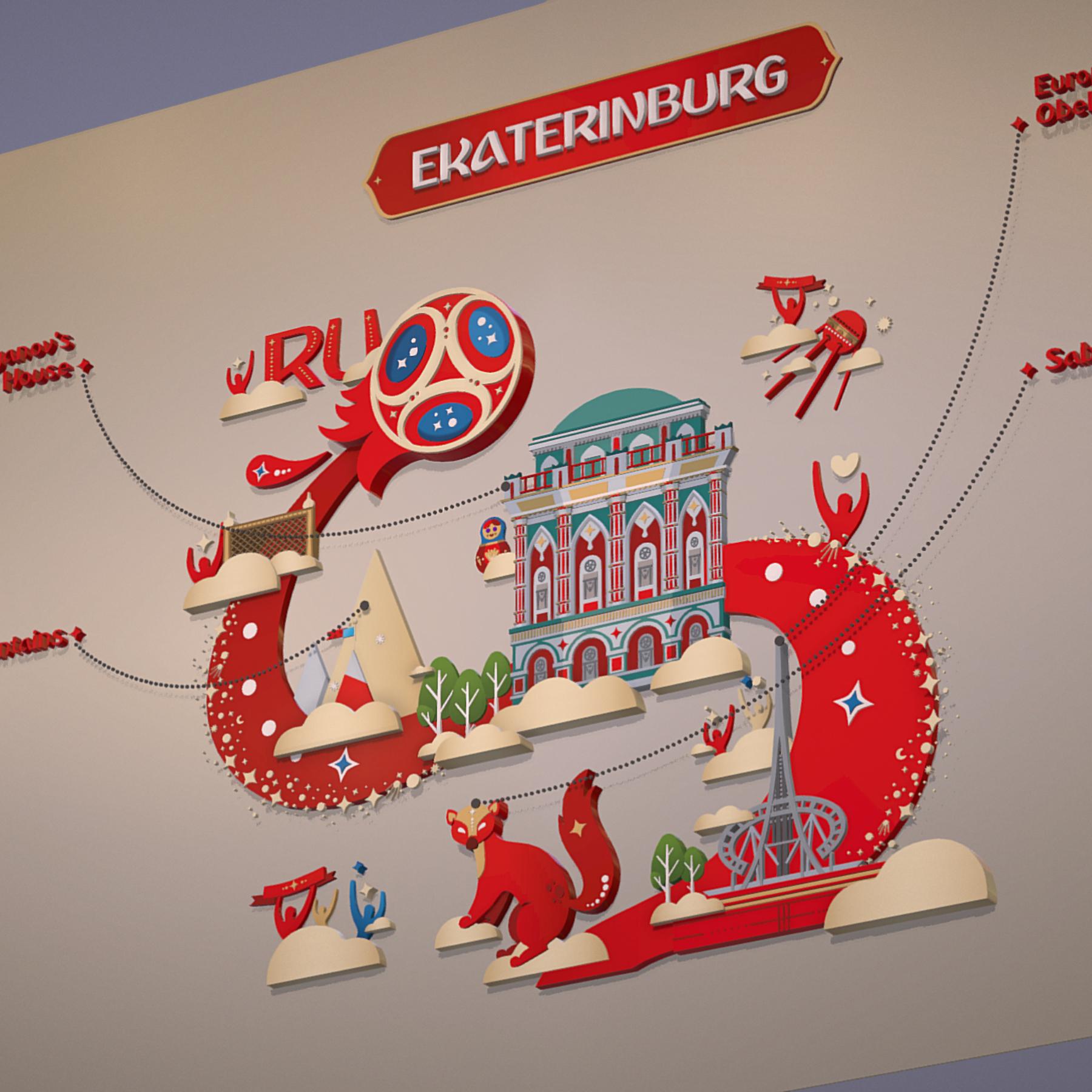 fifa wold cup 2018 russia host city ekaterinburg 3d model max  fbx jpeg jpg ma mb obj 271364