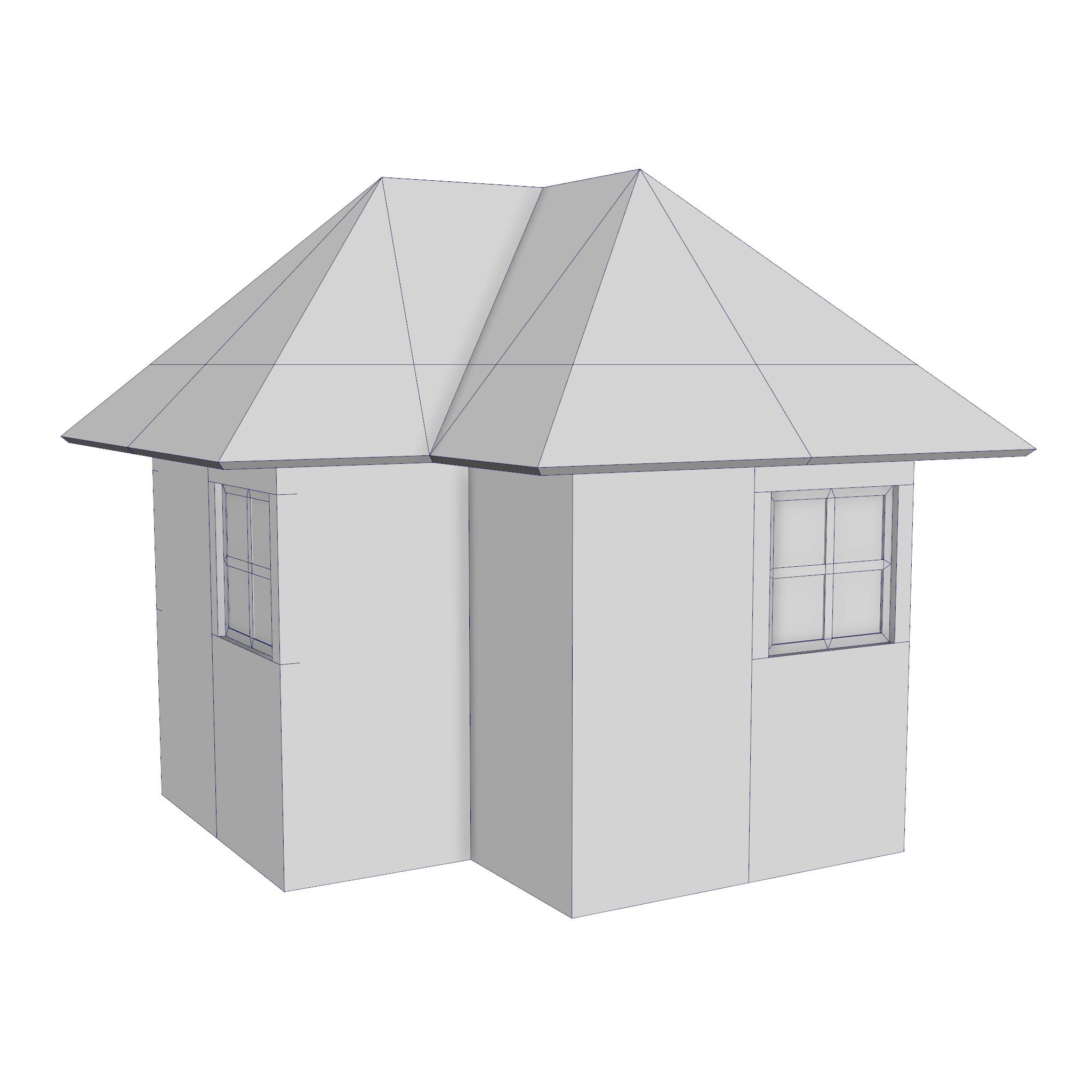 modular brick house set 3d model fbx ma mb 271409