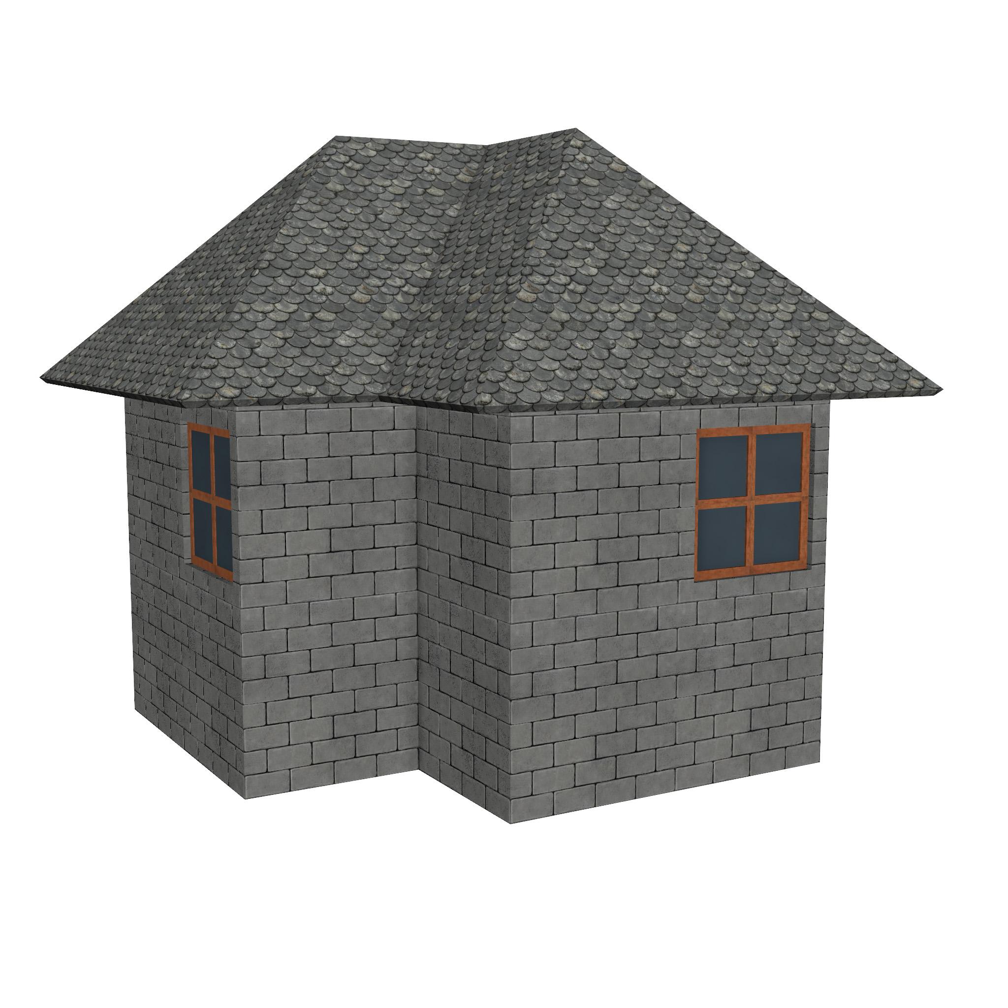 modular brick house set 3d model fbx ma mb 271410