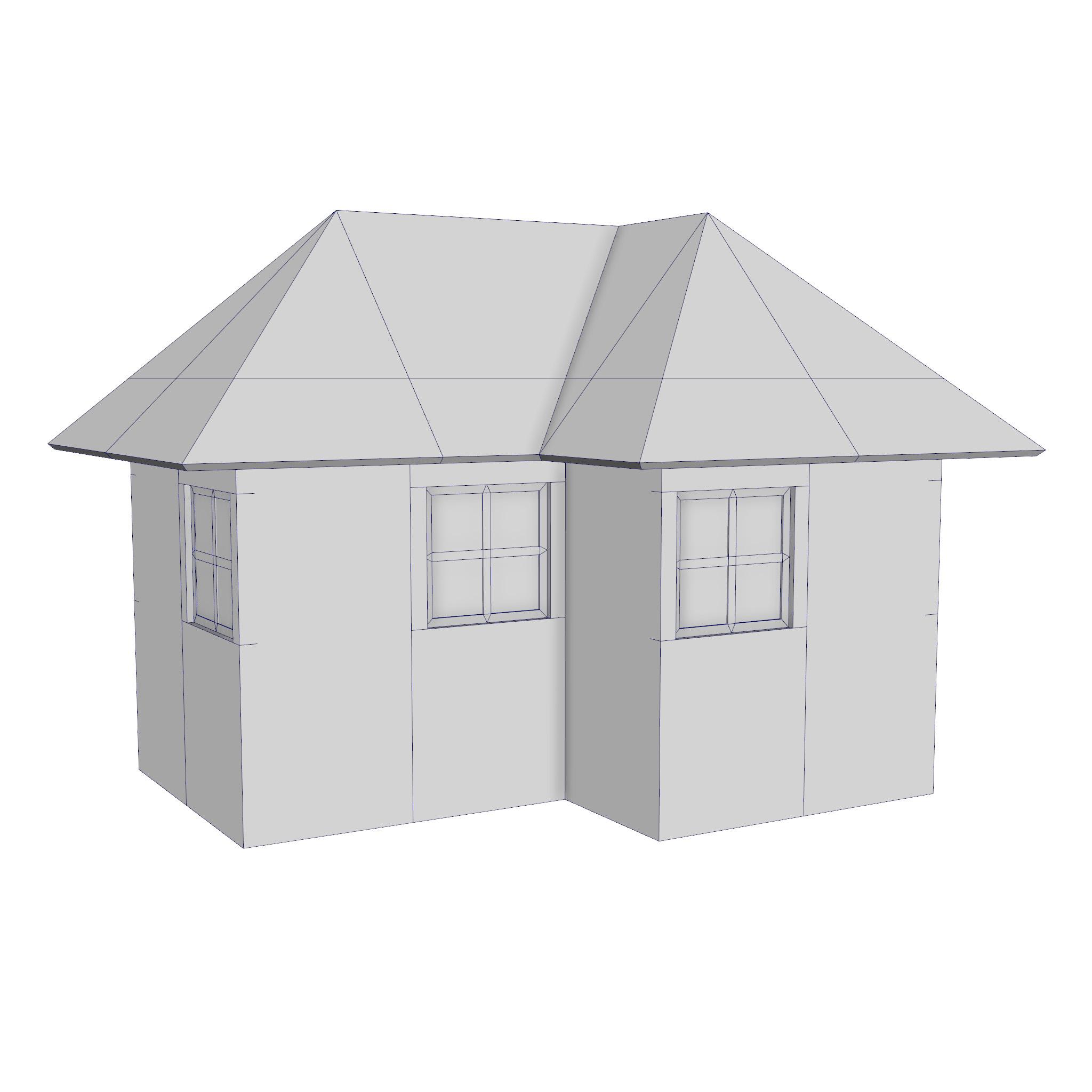 modular brick house set 3d model fbx ma mb 271411