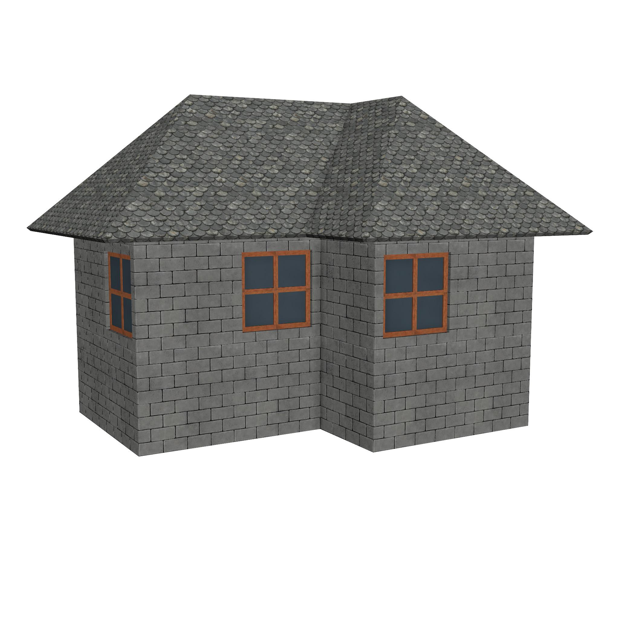 modular brick house set 3d model fbx ma mb 271412