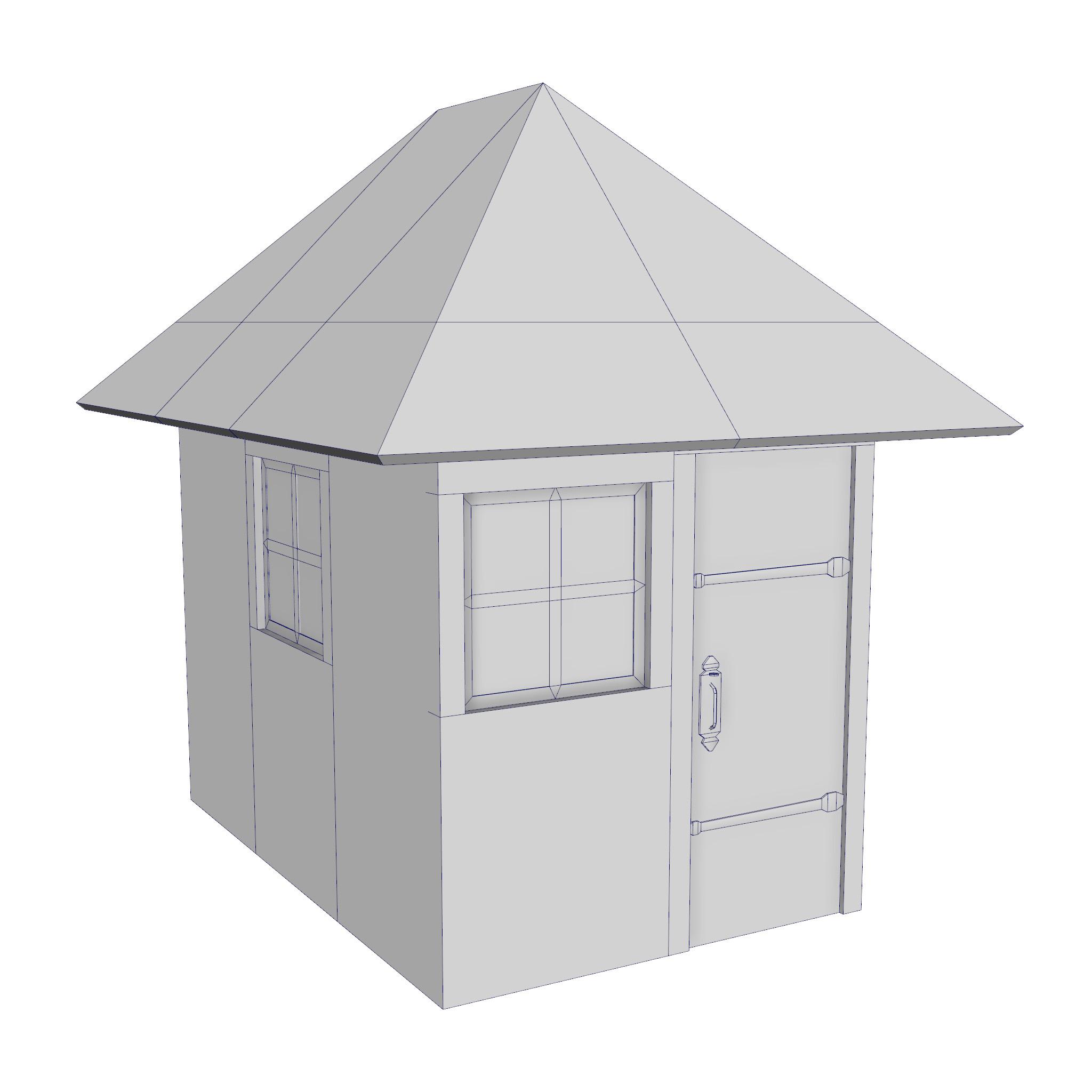 modular brick house set 3d model fbx ma mb 271415