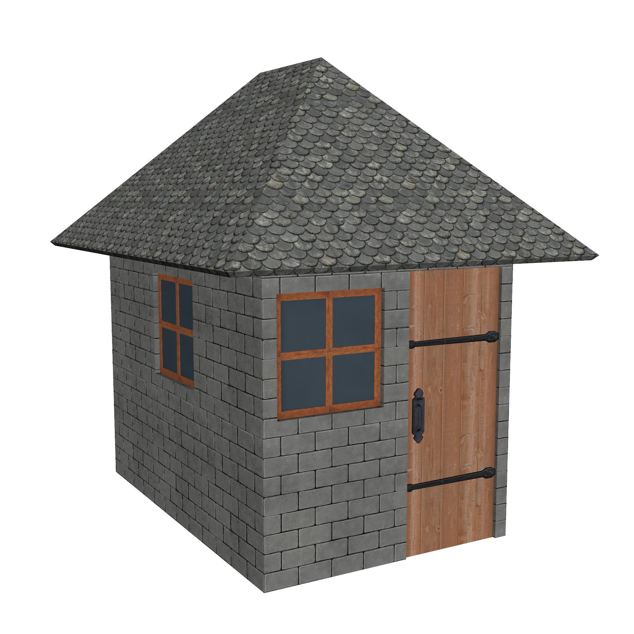 modular brick house set 3d model fbx ma mb 271416
