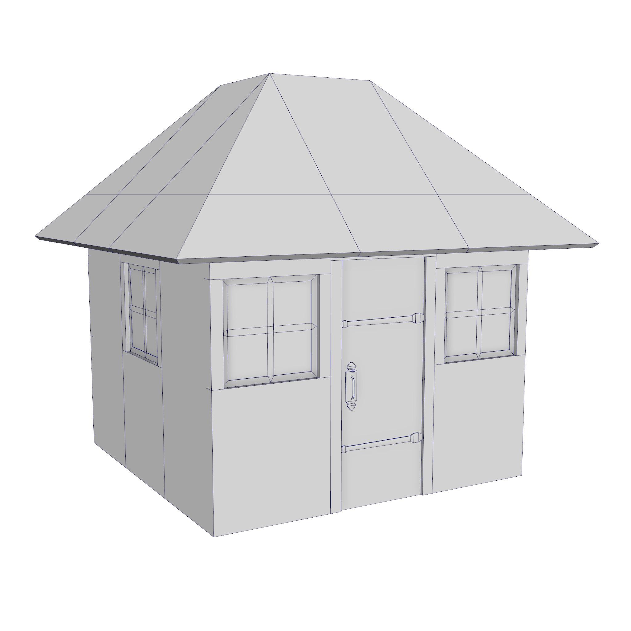 modular brick house set 3d model fbx ma mb 271419