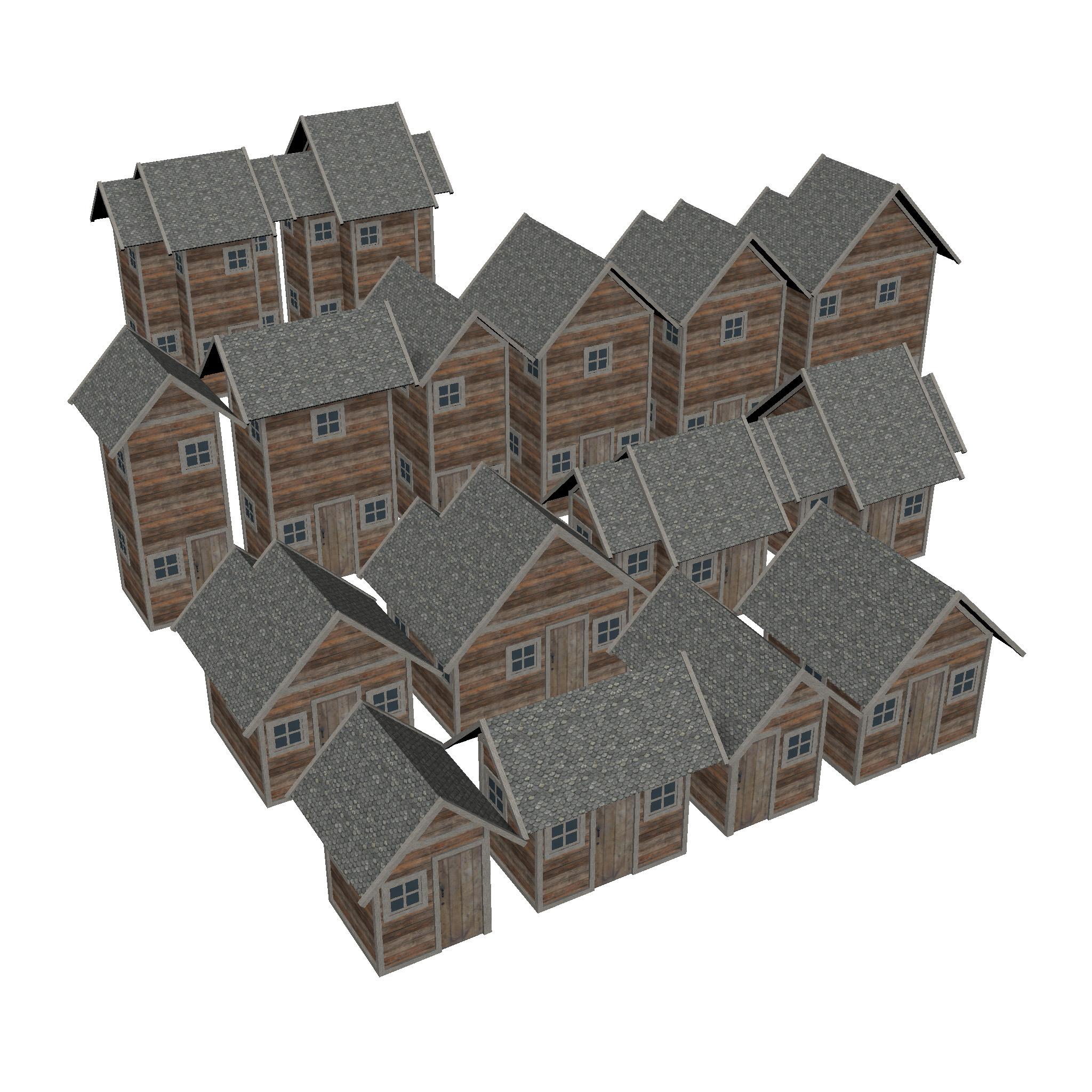 モジュール式木造住宅セット3dモデルfbx ma mb 271428