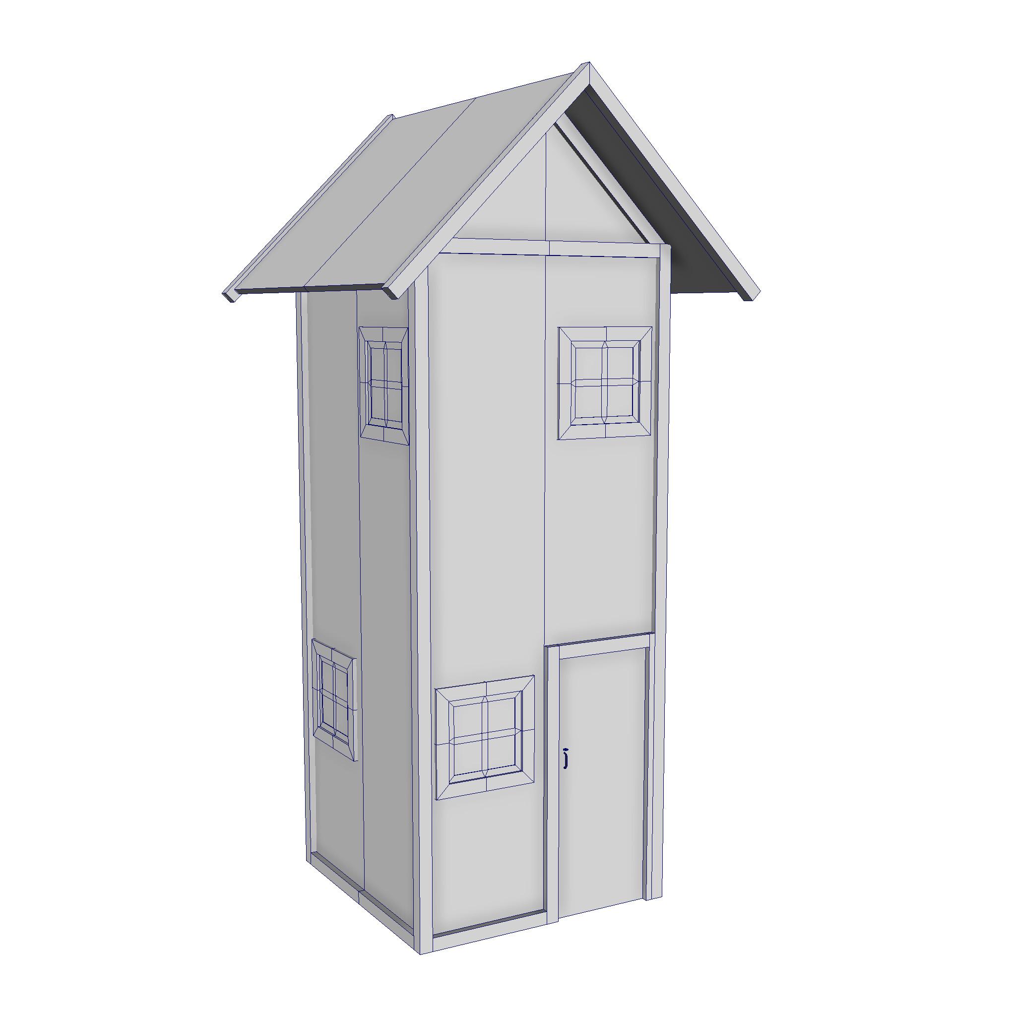 modularna drvena kućica set 3d model fbx ma mb 271436