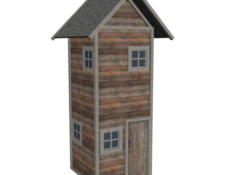 Modular Wood House Set 3d model low poly games game ready augmented reality augmented reality ready virtual reality fbx ma mb