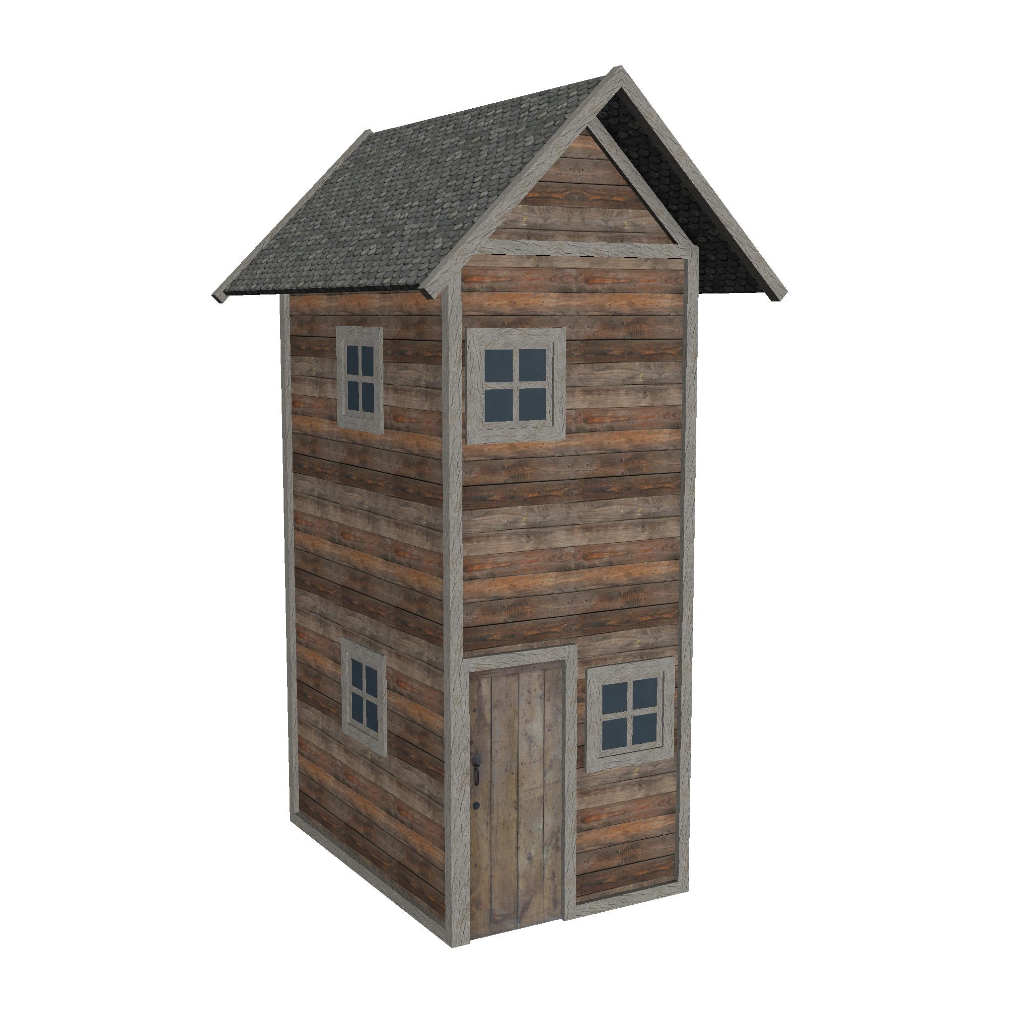 modularna drvena kućica set 3d model fbx ma mb 271439