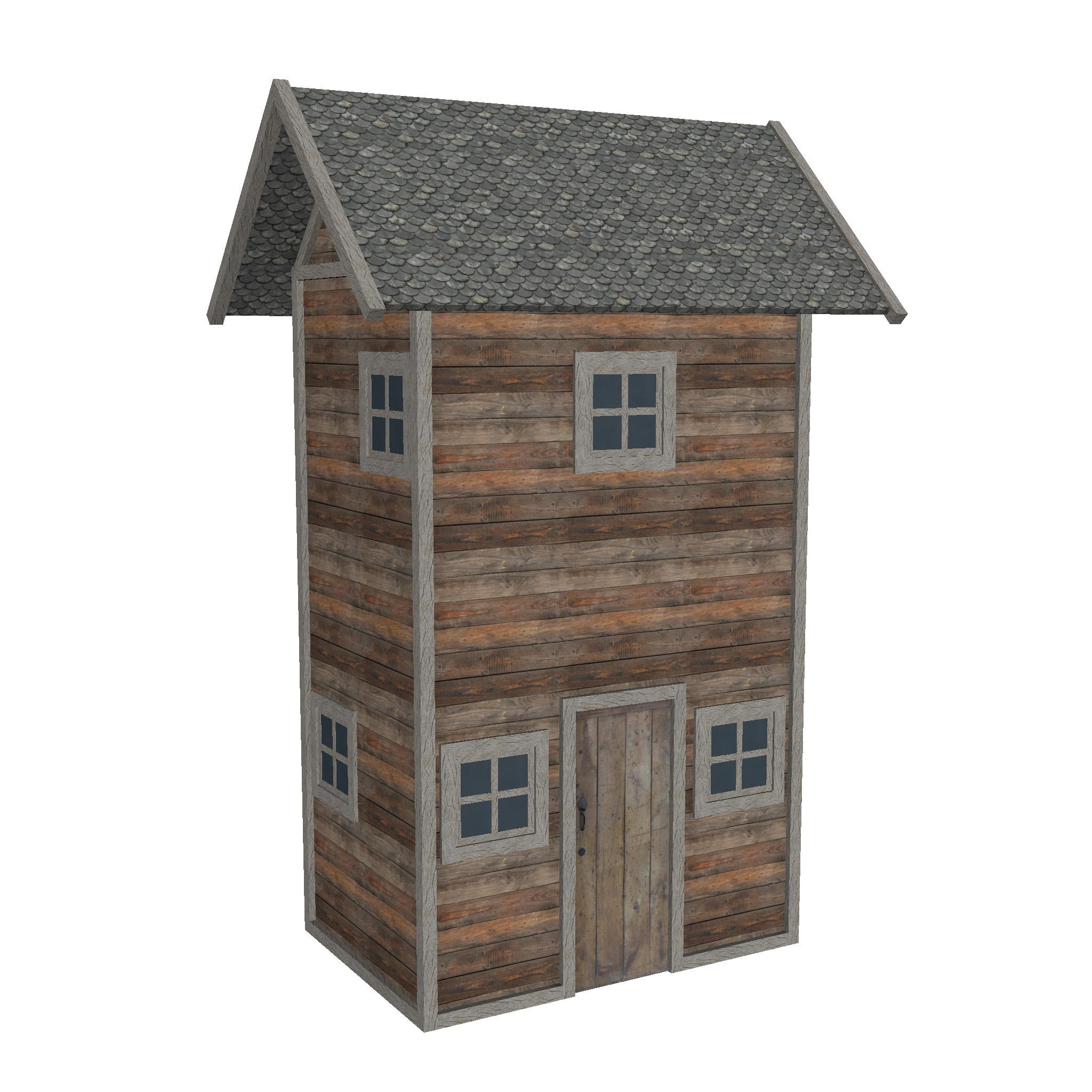 modularna drvena kućica set 3d model fbx ma mb 271441
