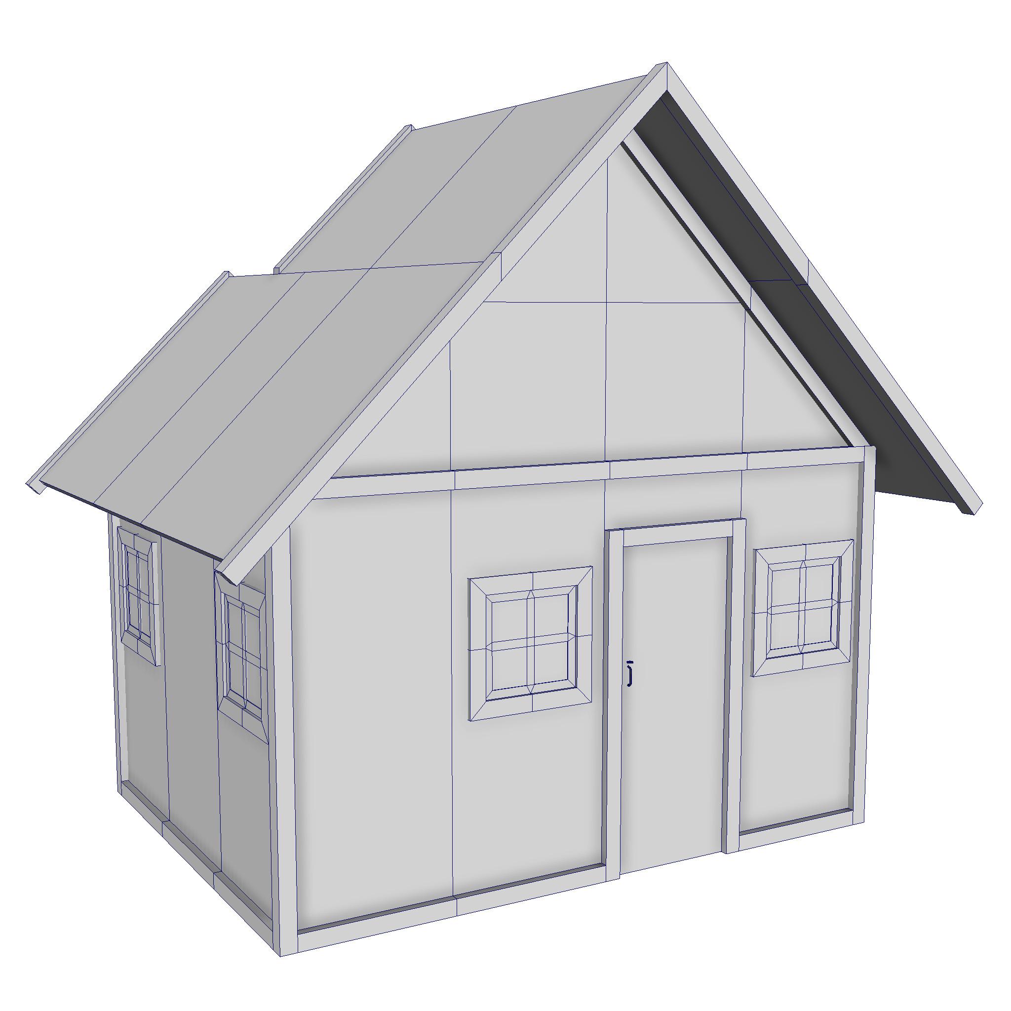 Modular Wood House Set Flatpyramid