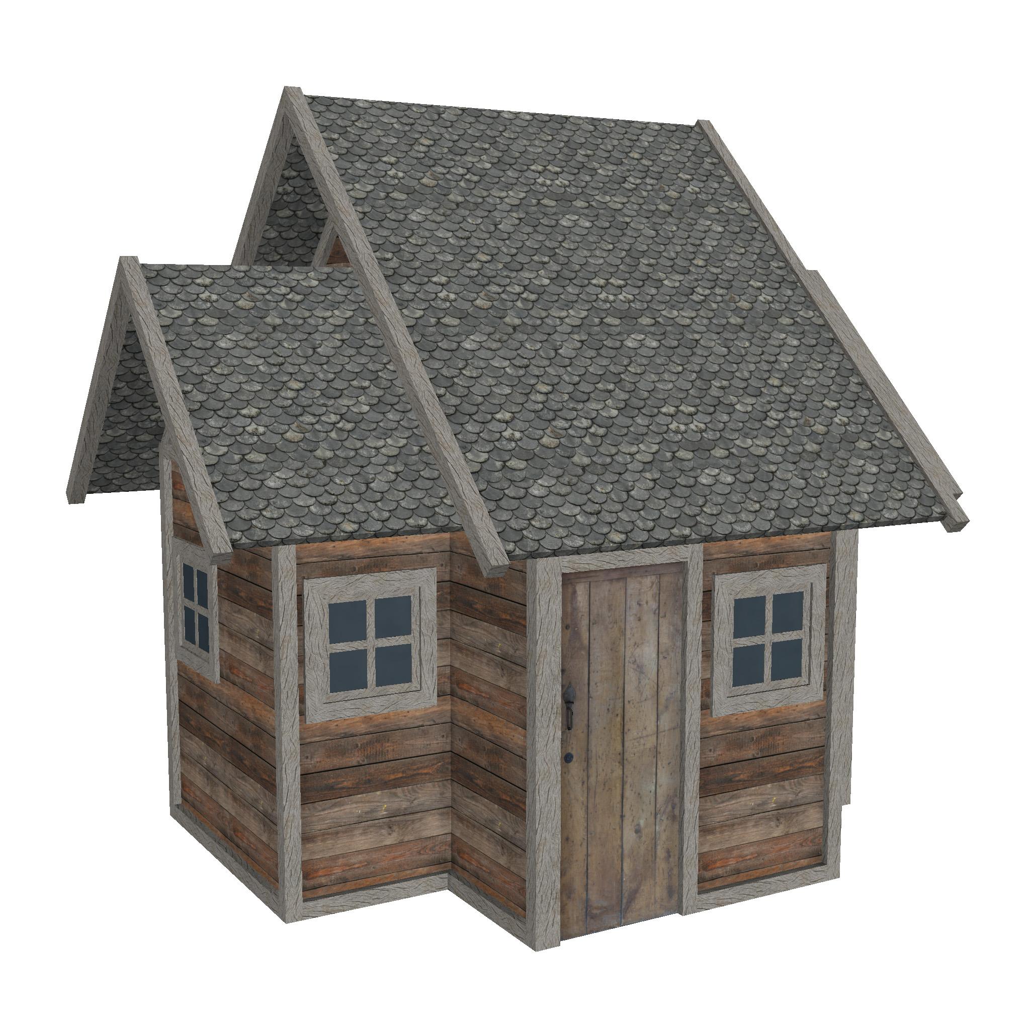modularna drvena kućica set 3d model fbx ma mb 271451