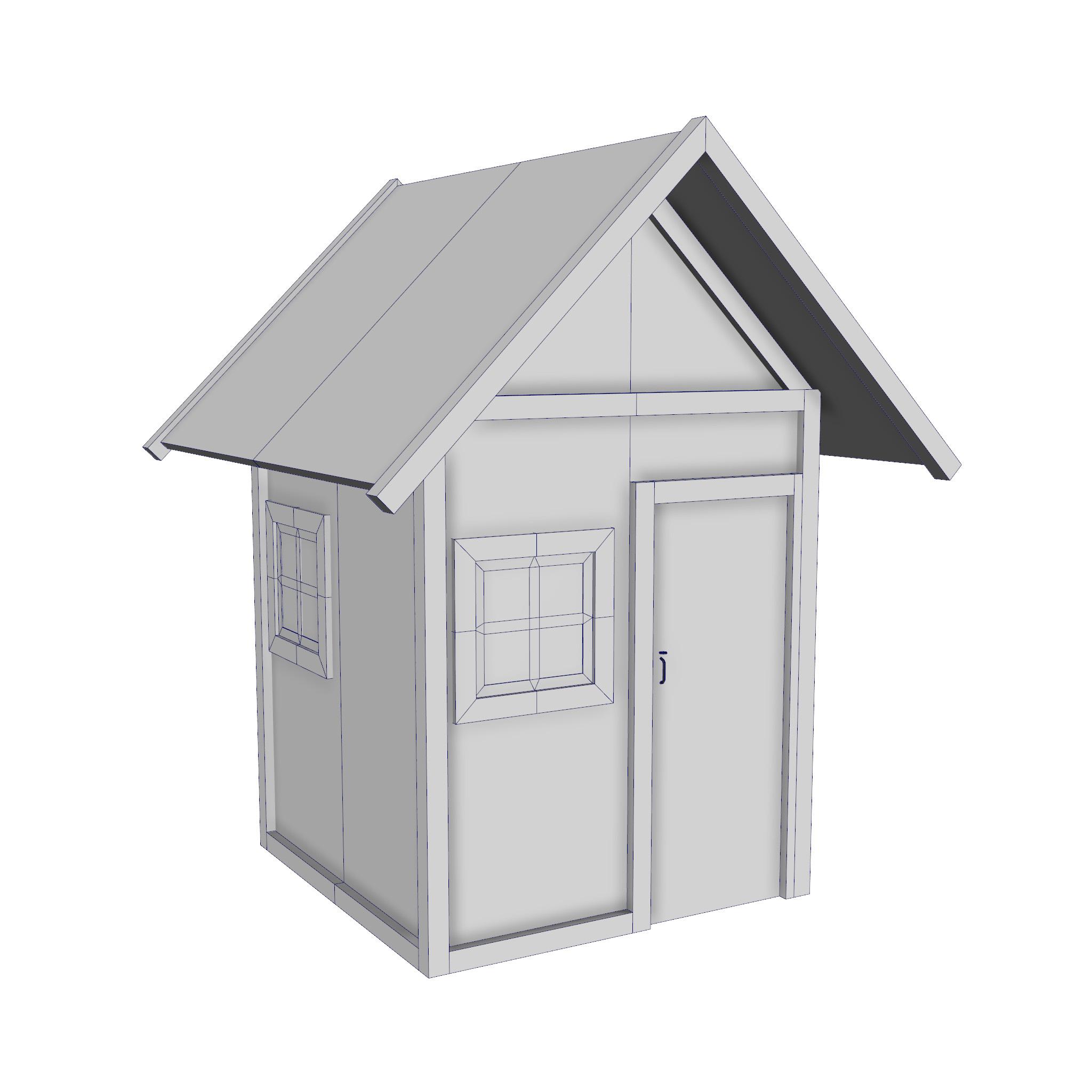 modularna drvena kućica set 3d model fbx ma mb 271452
