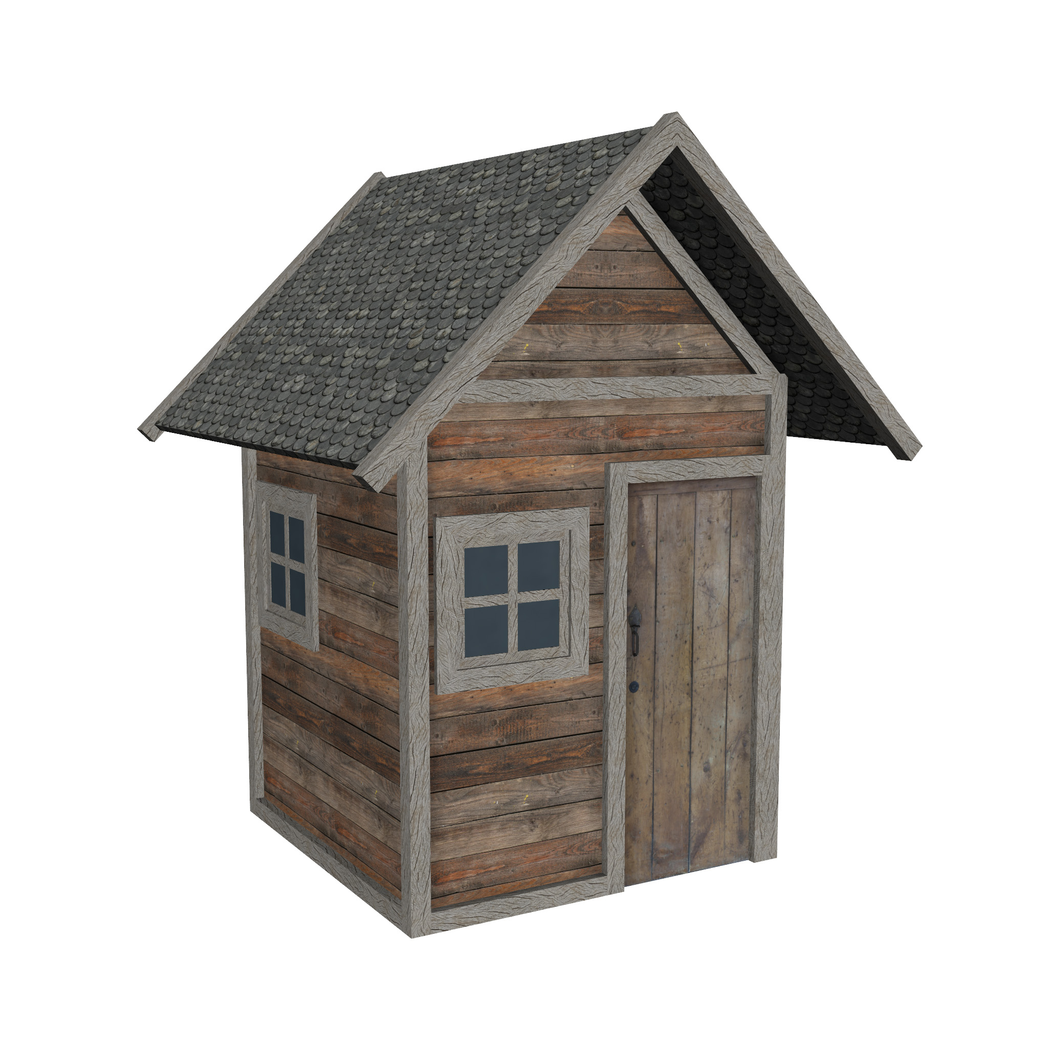 modular wood house set 3d model fbx ma mb 271453