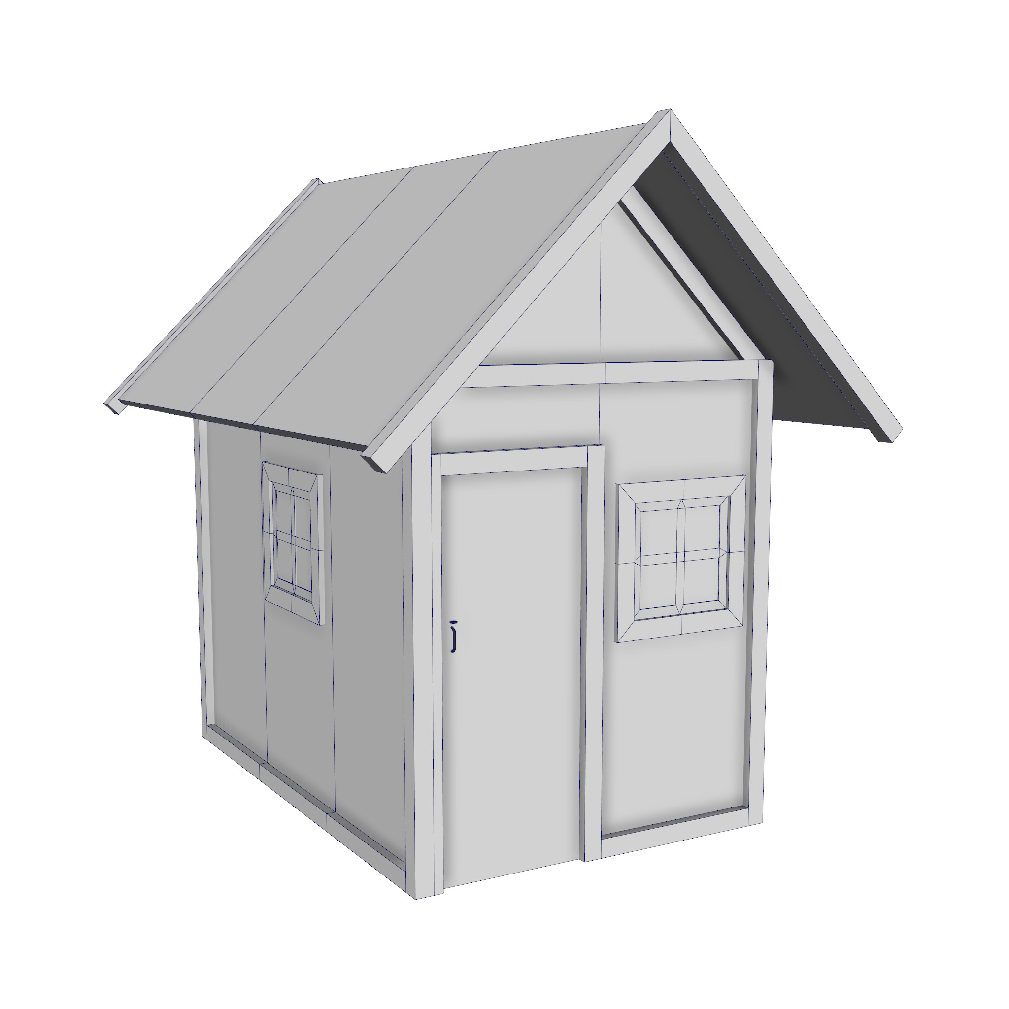modular wood house set 3d model fbx ma mb 271454