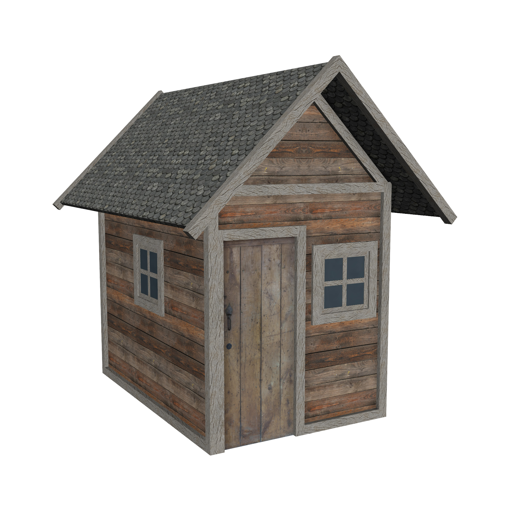 modular wood house set 3d model fbx ma mb 271455