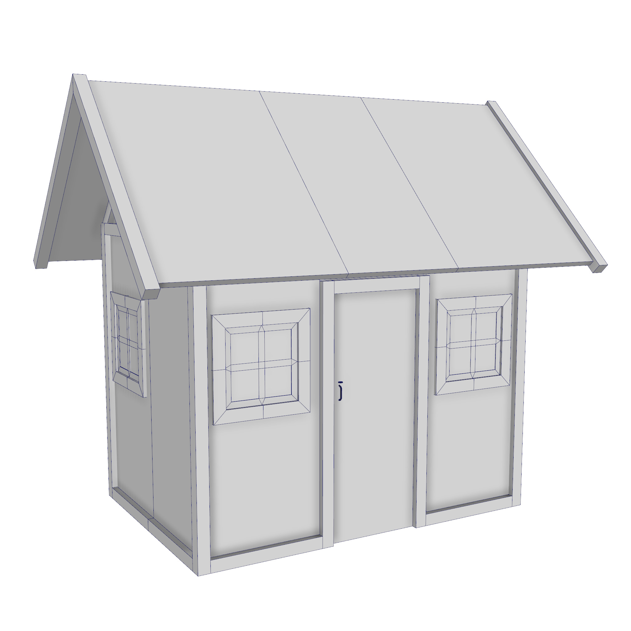modular wood house set 3d model fbx ma mb 271456