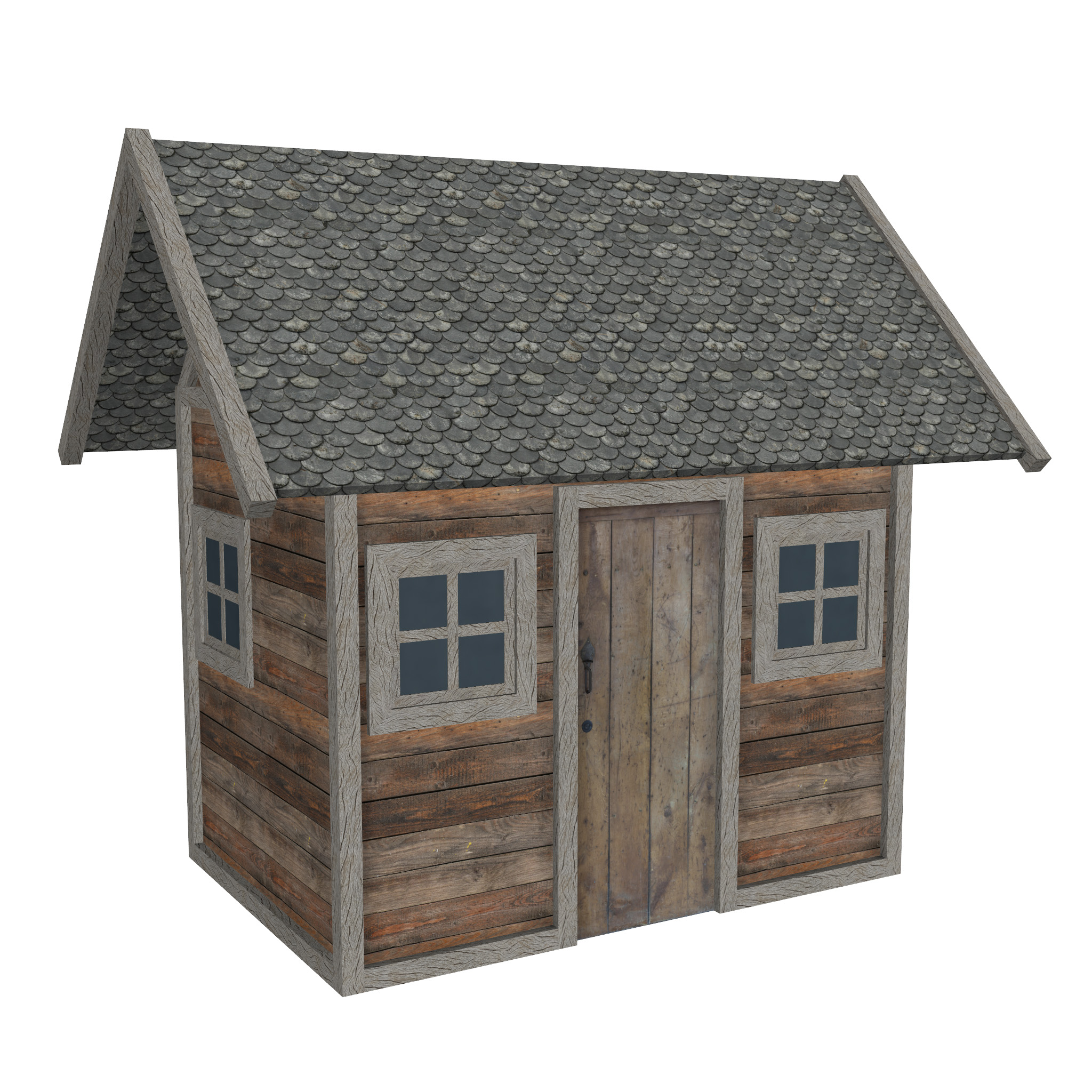 modular wood house set 3d model fbx ma mb 271457