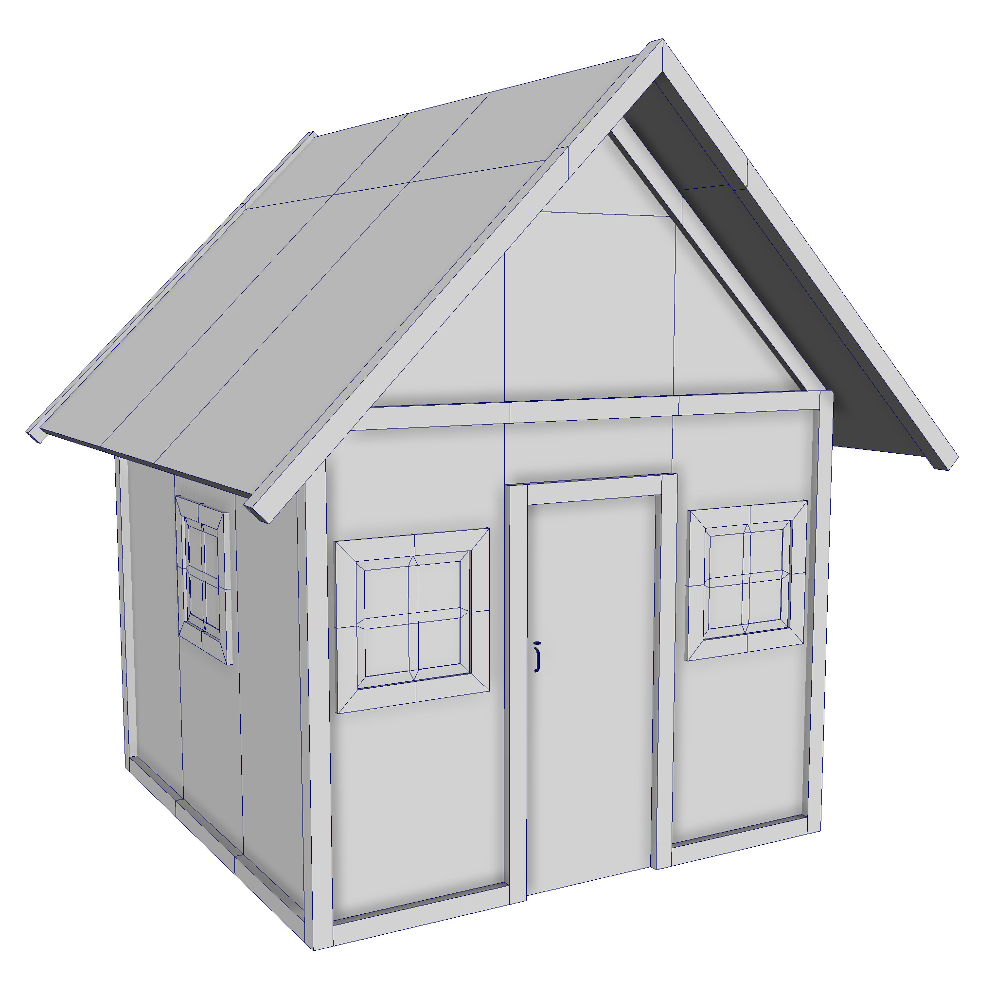 modular wood house set 3d model fbx ma mb 271458