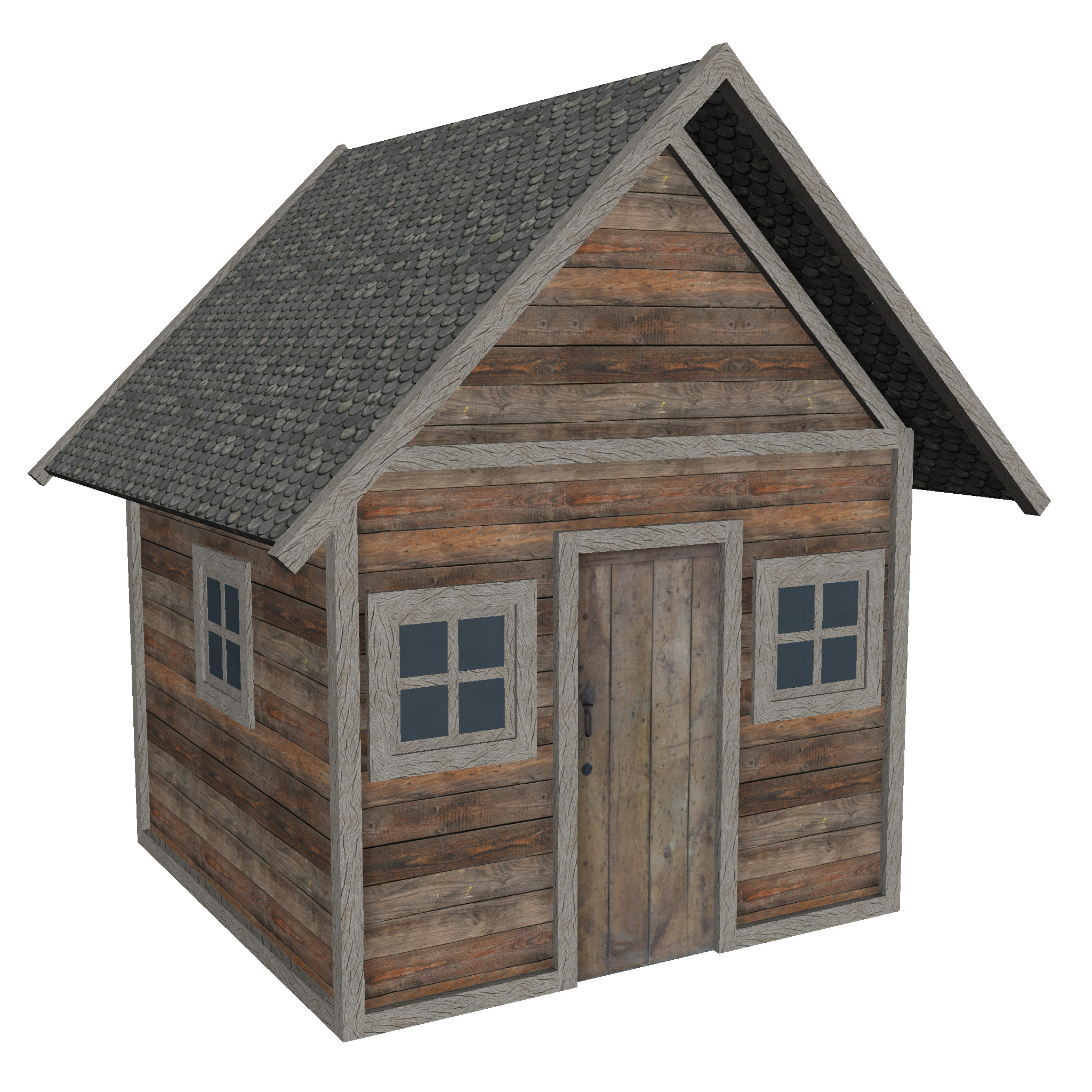modular wood house set 3d model fbx ma mb 271459