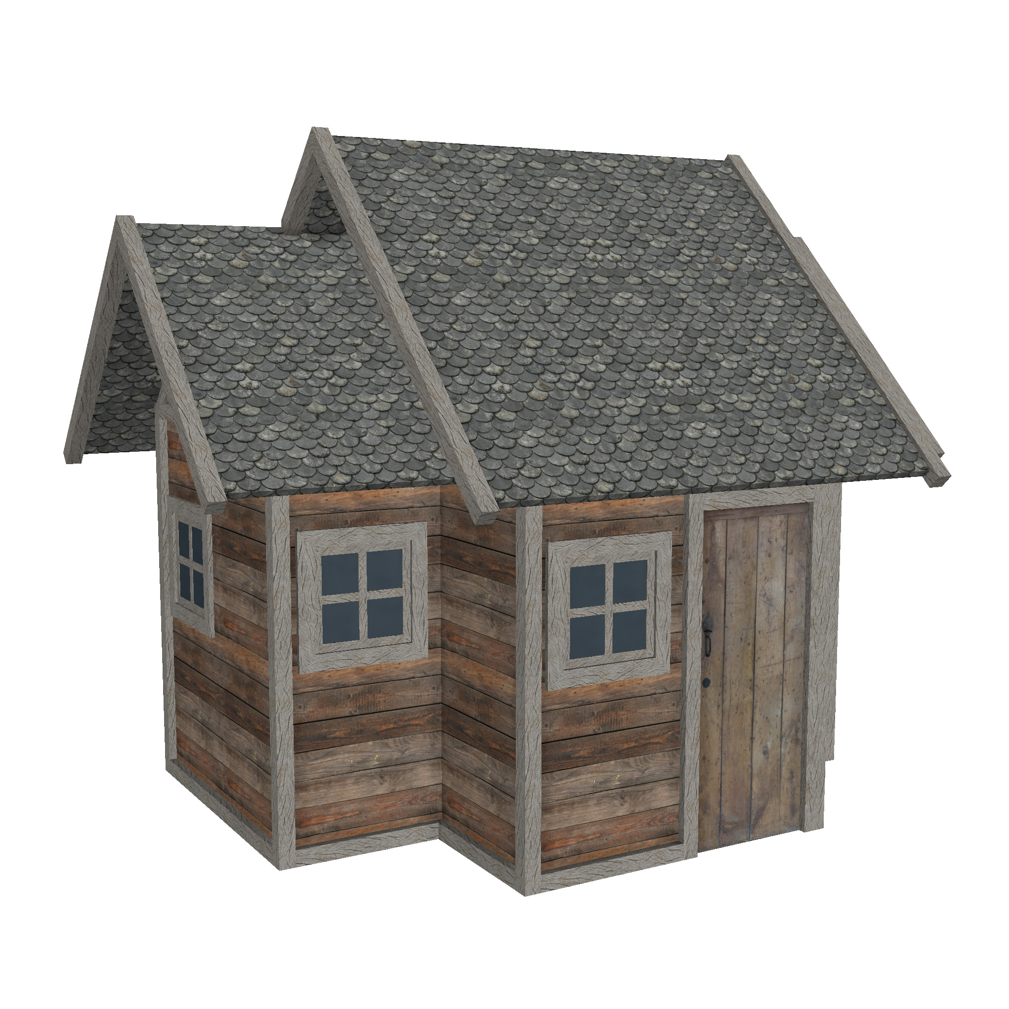 modular wood house set 3d model fbx ma mb 271461