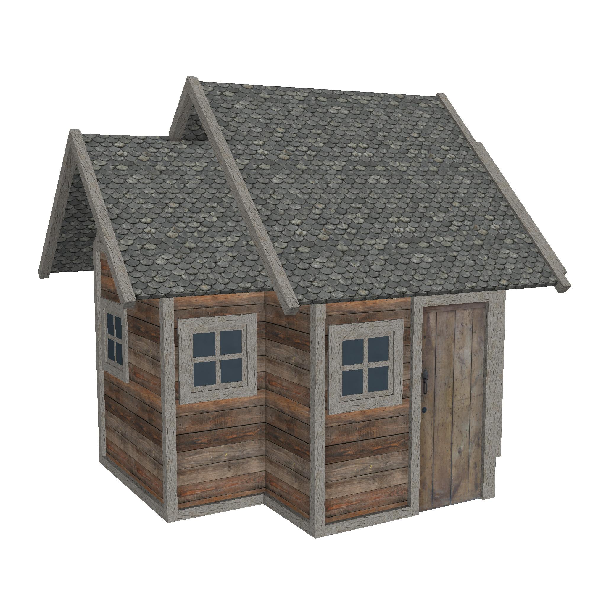 modularna drvena kućica set 3d model fbx ma mb 271461