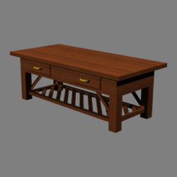 Coffee Table v2 3d model 0