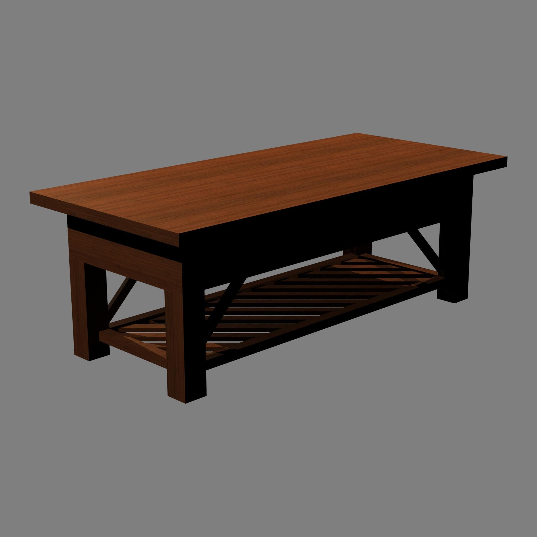 Coffee table 3d model buy coffee table 3d model for Model furniture