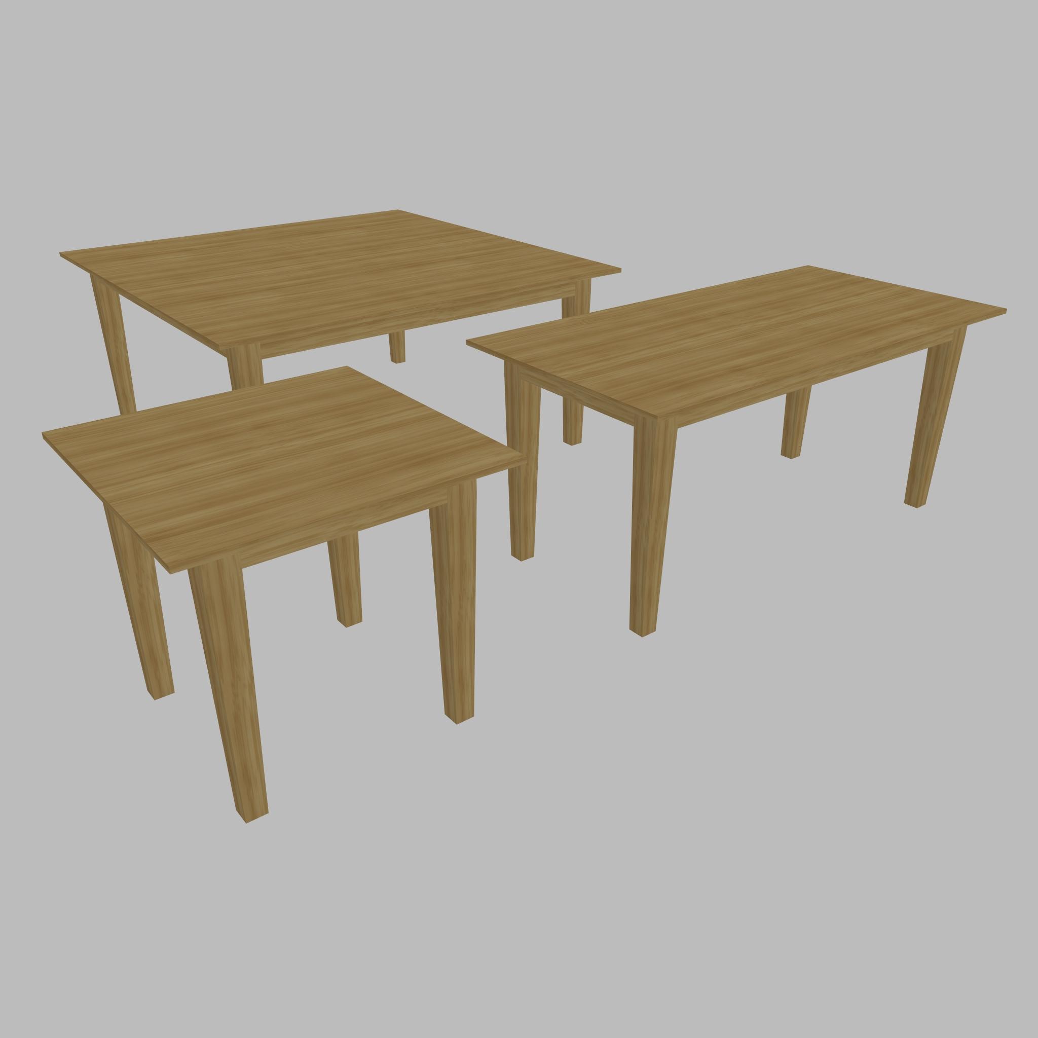 Table - Three Sizes 3d model 3ds fbx ma mb obj 271506