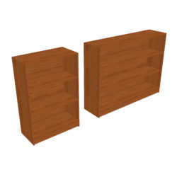 Bookcase - Two Sizes 3d model 0