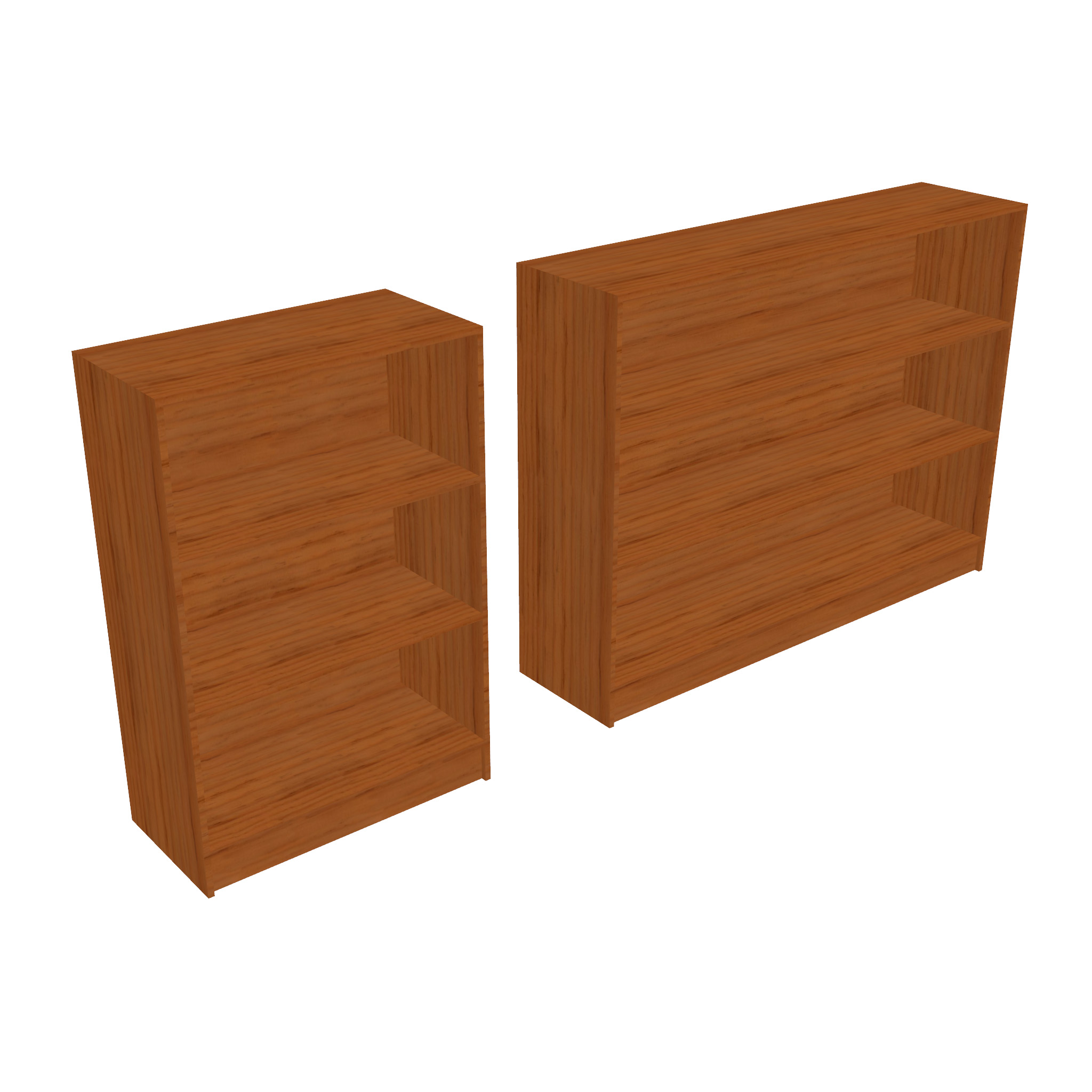 bookcase – two sizes 3d model 3ds fbx ma mb obj 271542