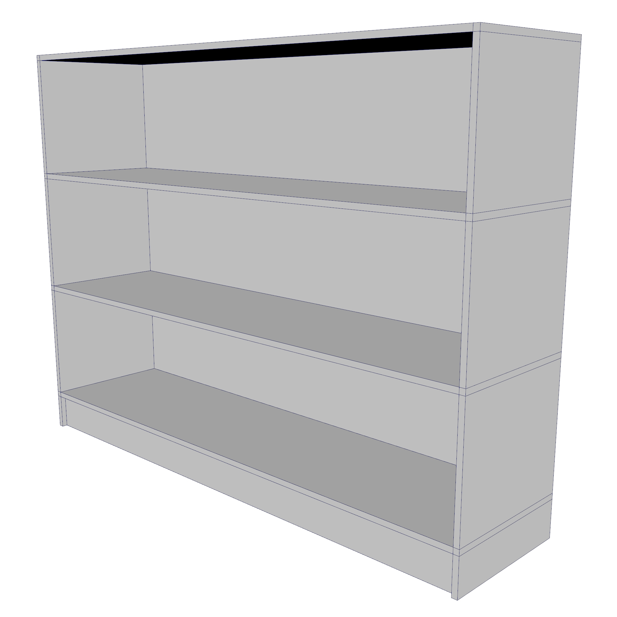 bookcase – two sizes 3d model 3ds fbx ma mb obj 271543